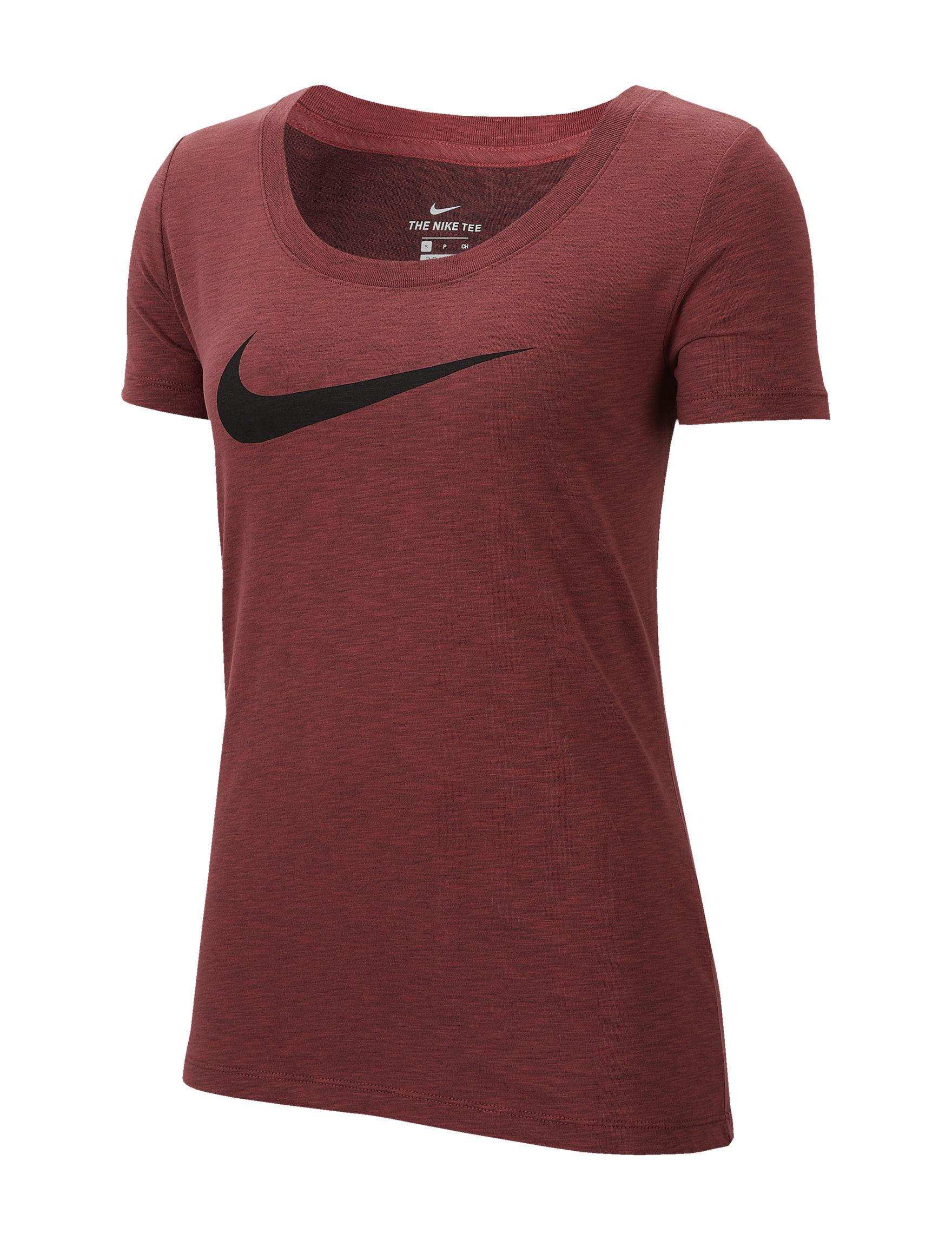 Nike Cedar Heather Active Tees & Tanks