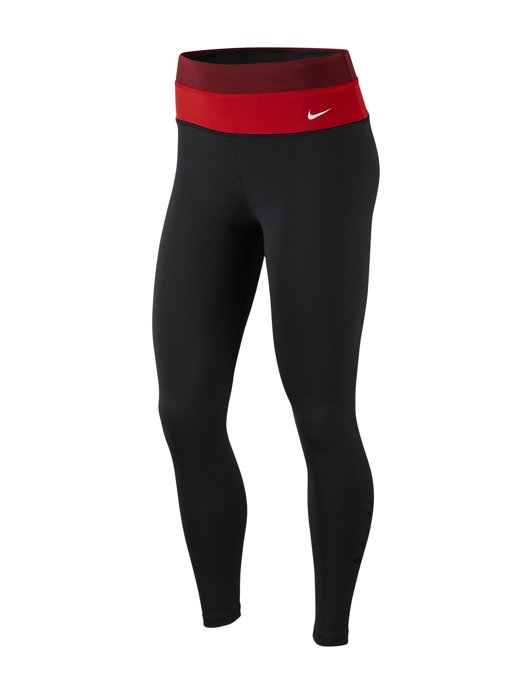 Nike Black / Red Active Leggings