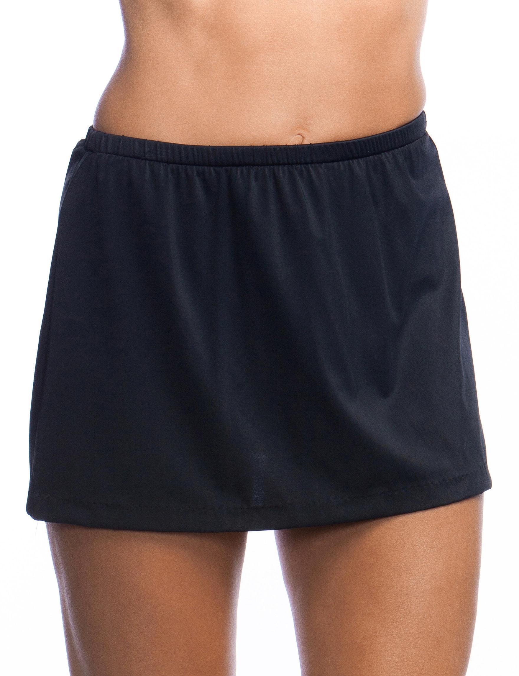 Maxine of Hollywood Black Swimsuit Bottoms Skirtini