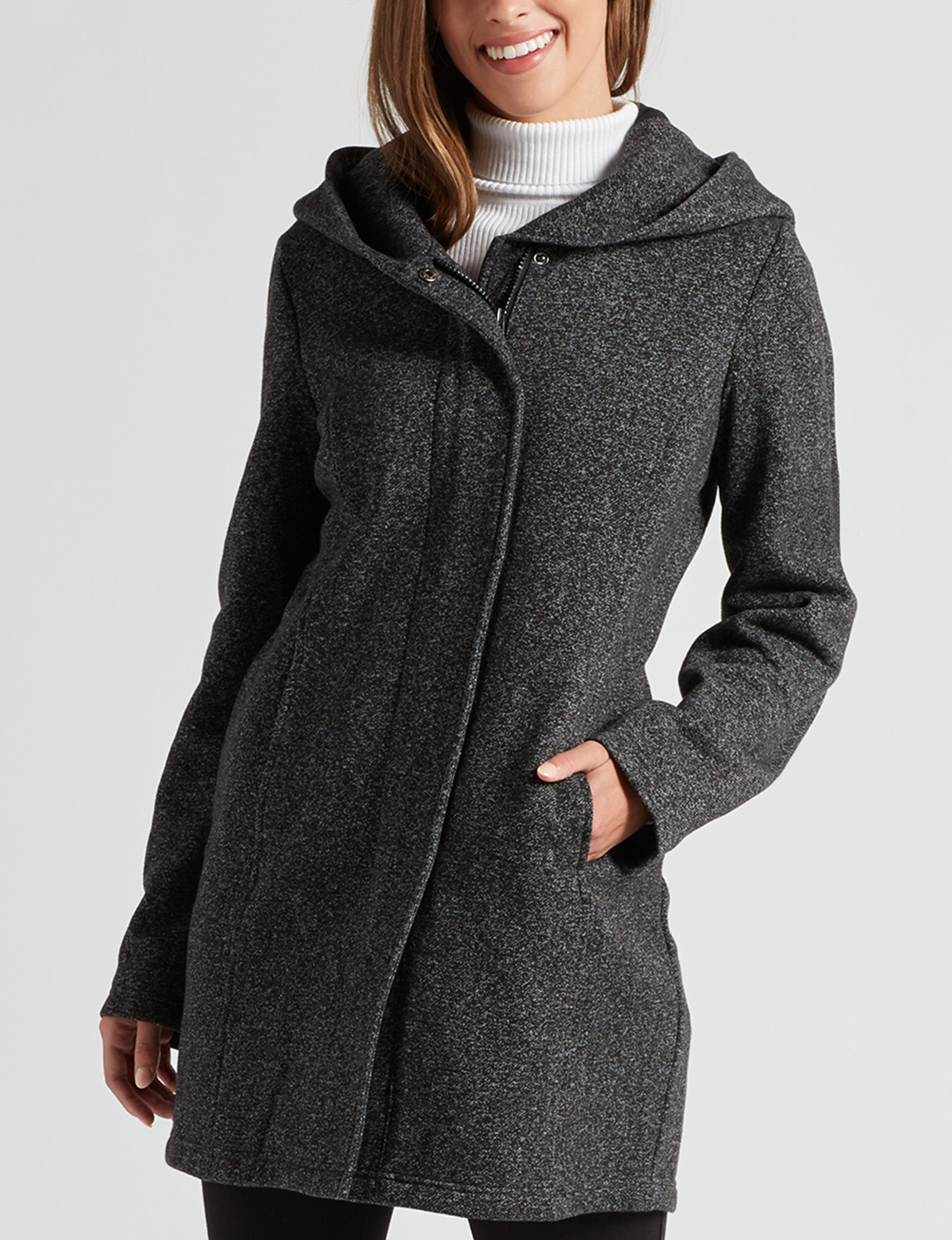 Sebby Collection Black Lightweight Jackets & Blazers