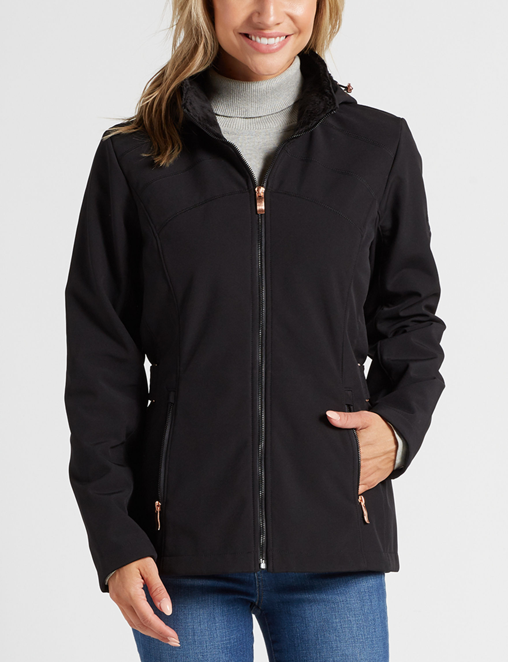Zero Xposur Black Fleece & Soft Shell Jackets