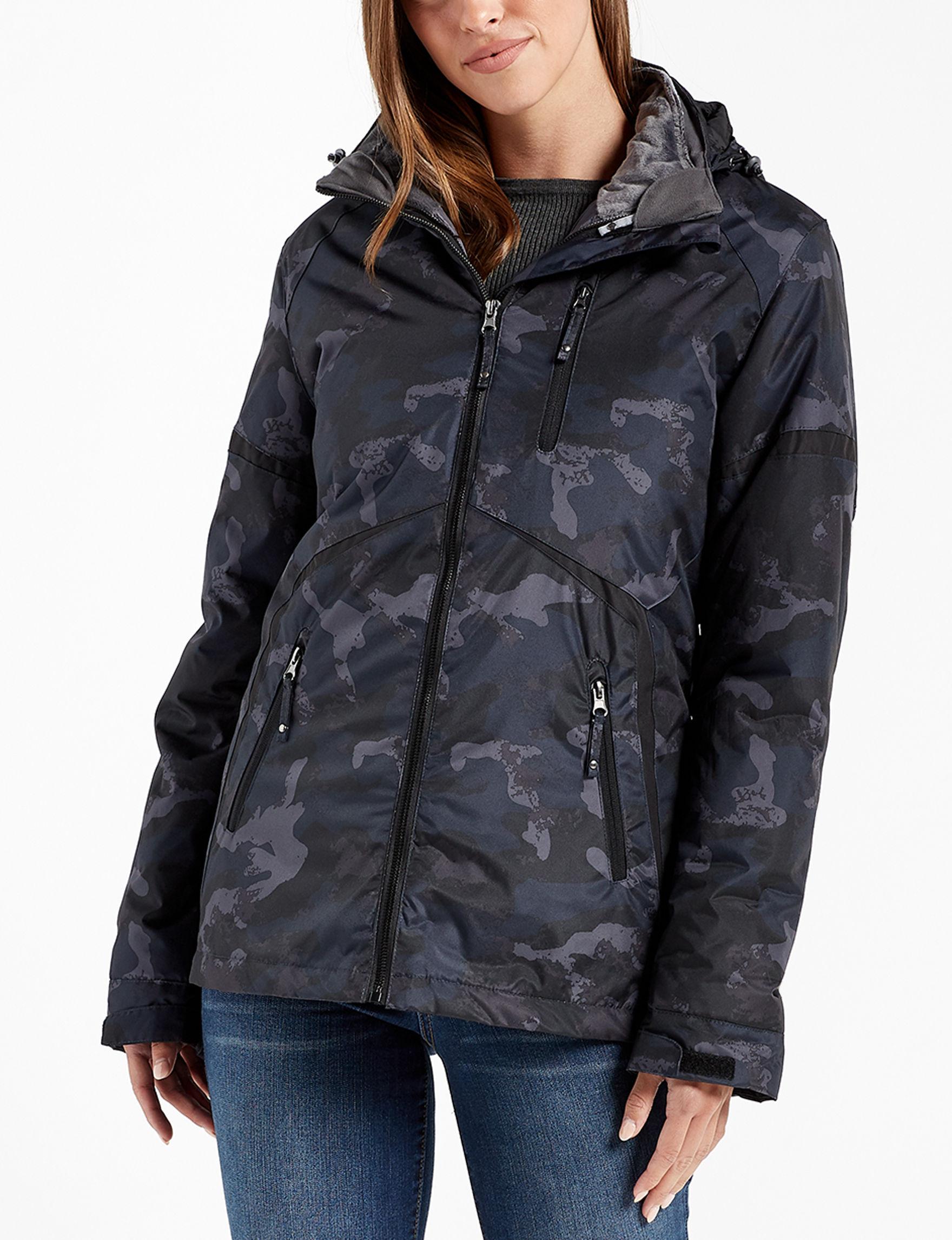 Mackintosh Navy Camo Fleece & Soft Shell Jackets Lightweight Jackets & Blazers Puffer & Quilted Jackets