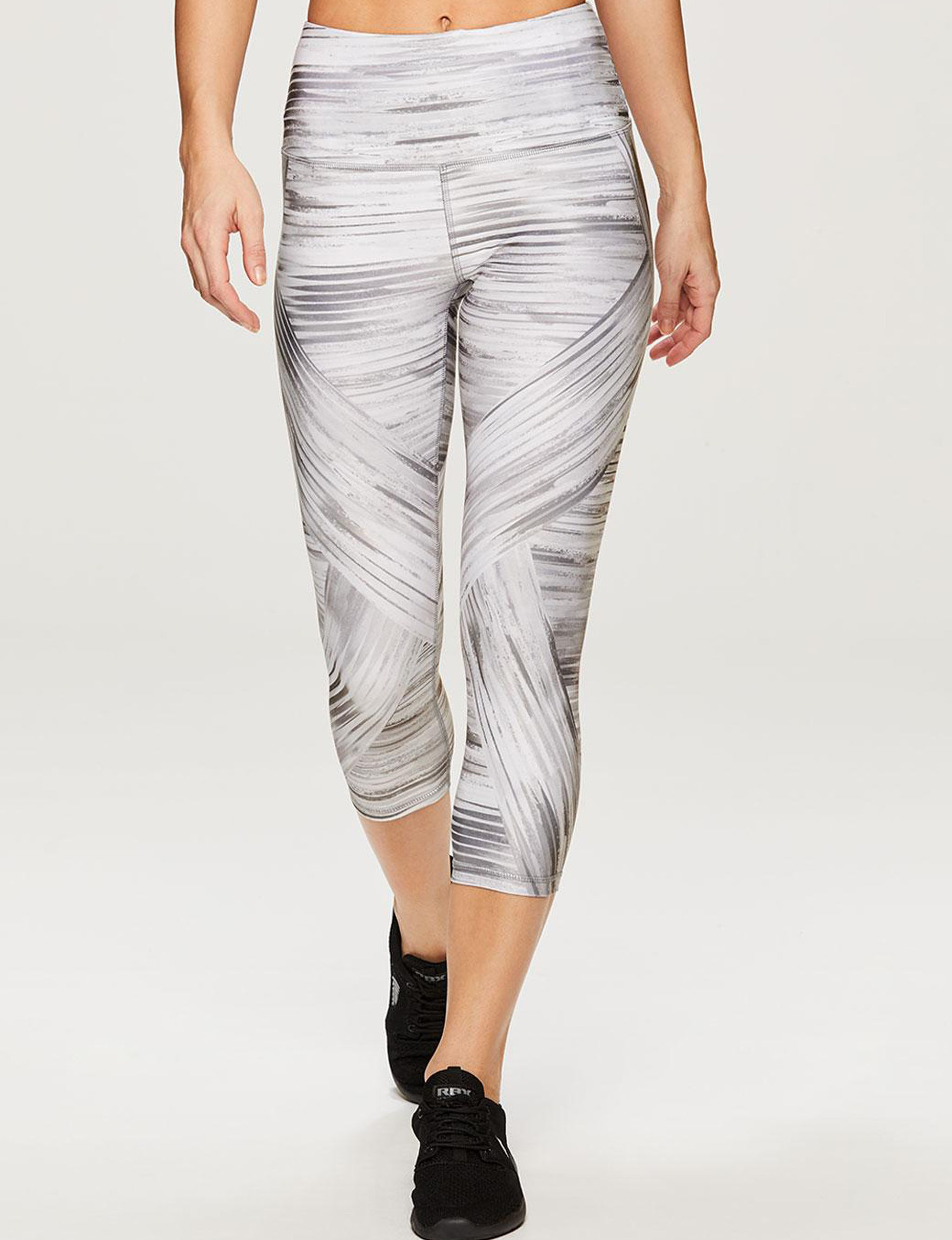 RBX Grey / White Active Capris & Crops