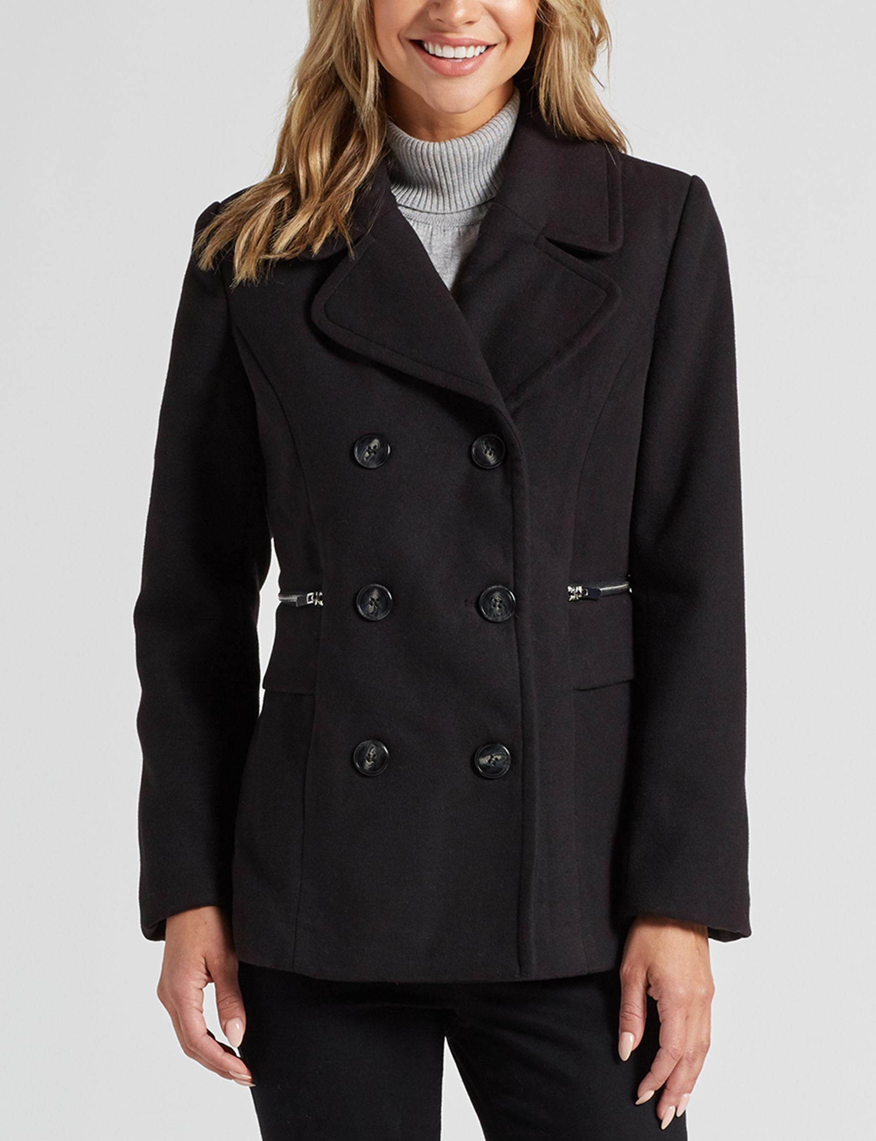 Mackintosh Black Peacoats & Overcoats