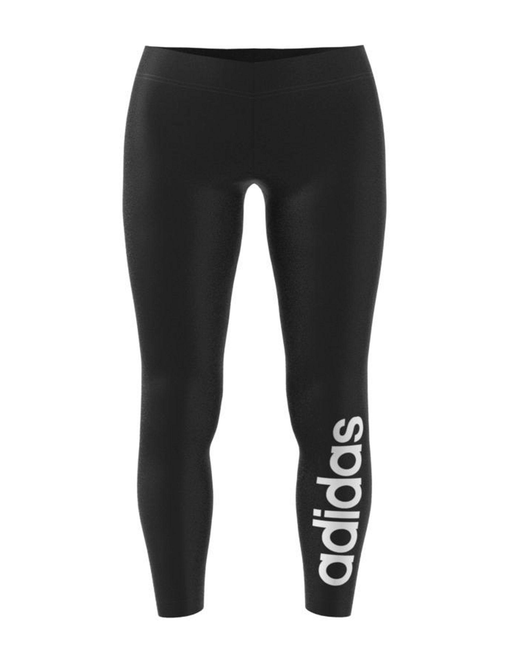 Adidas Black / White Active Leggings