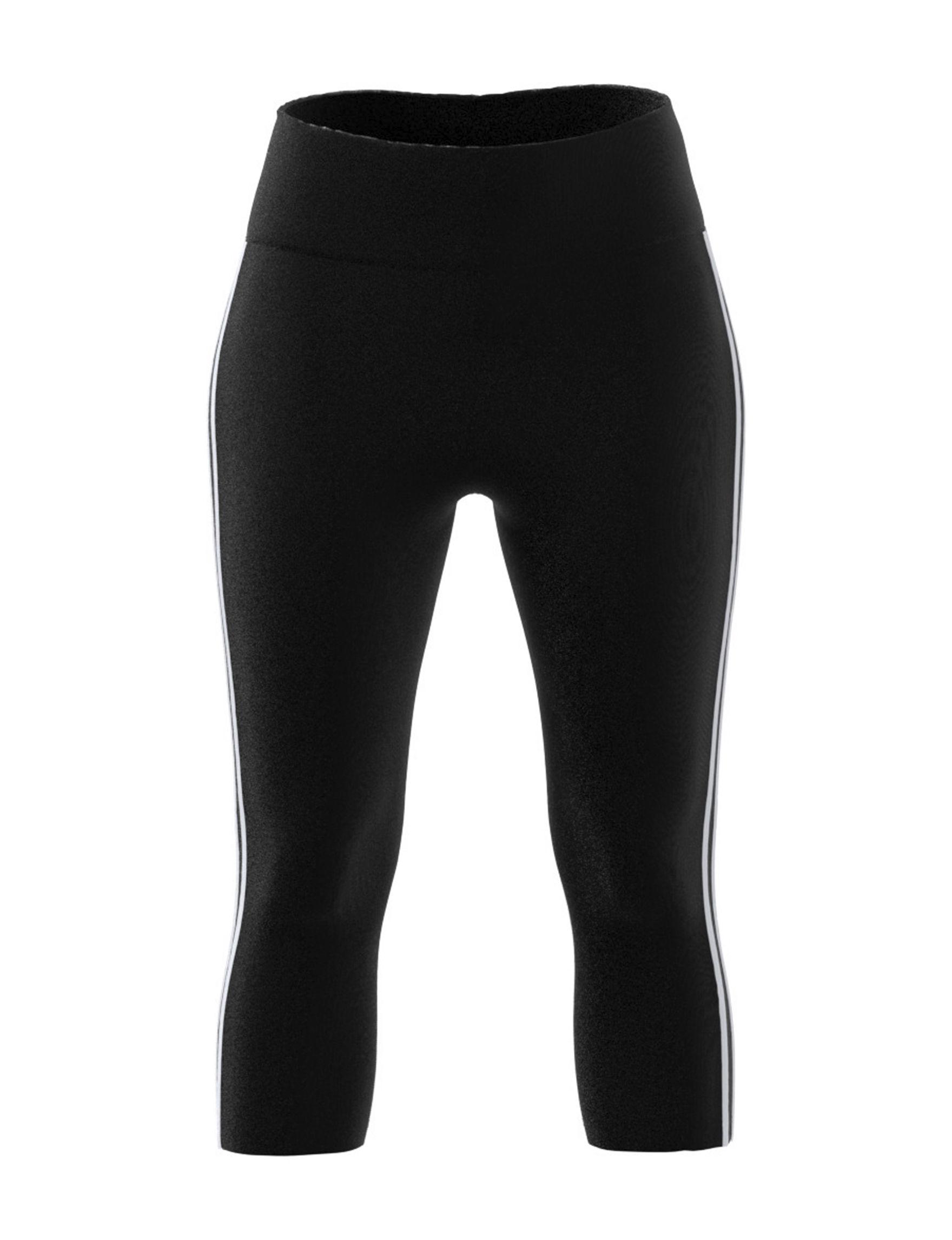 Adidas Black / White Capris & Crops