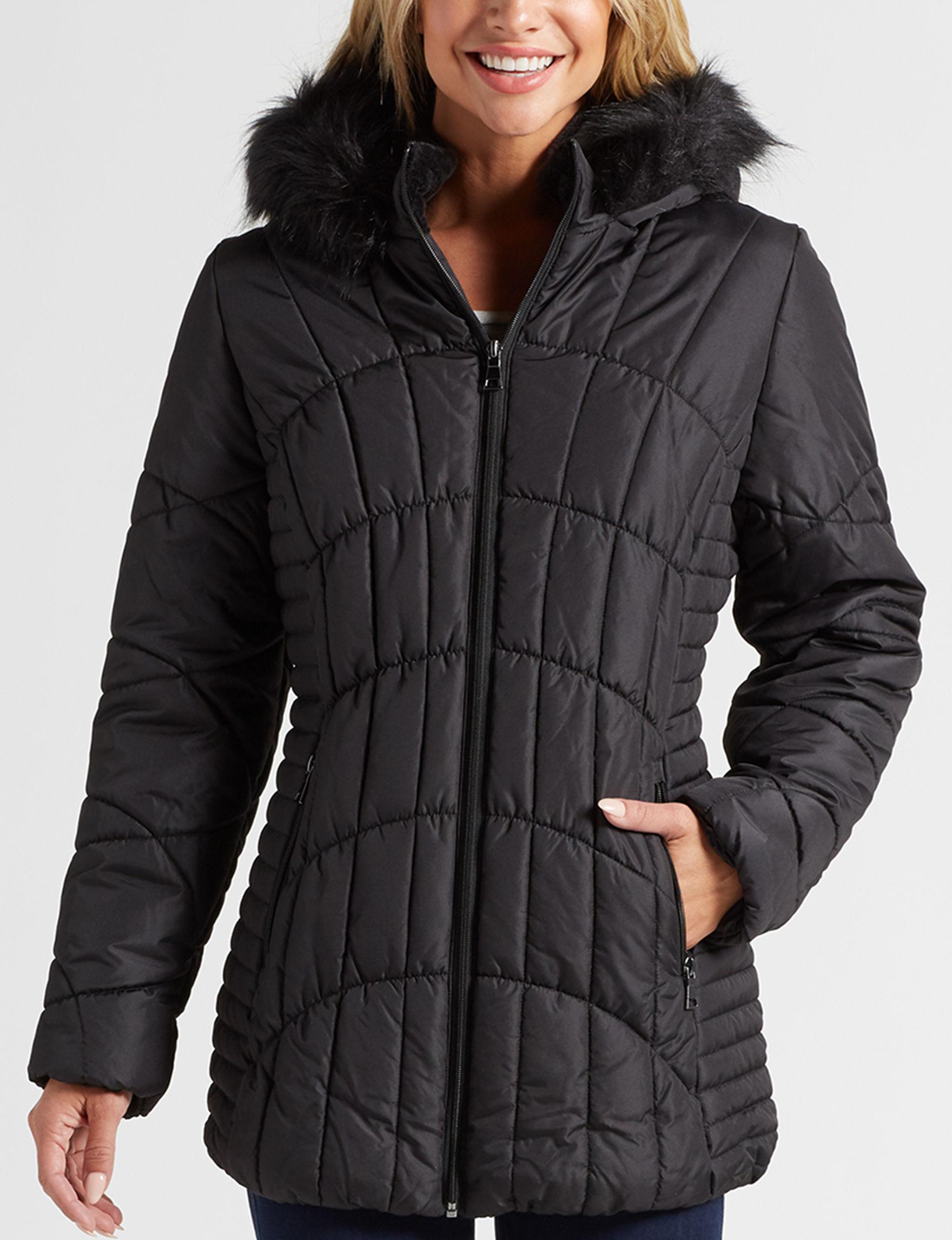 Below Zero Black Puffer & Quilted Jackets