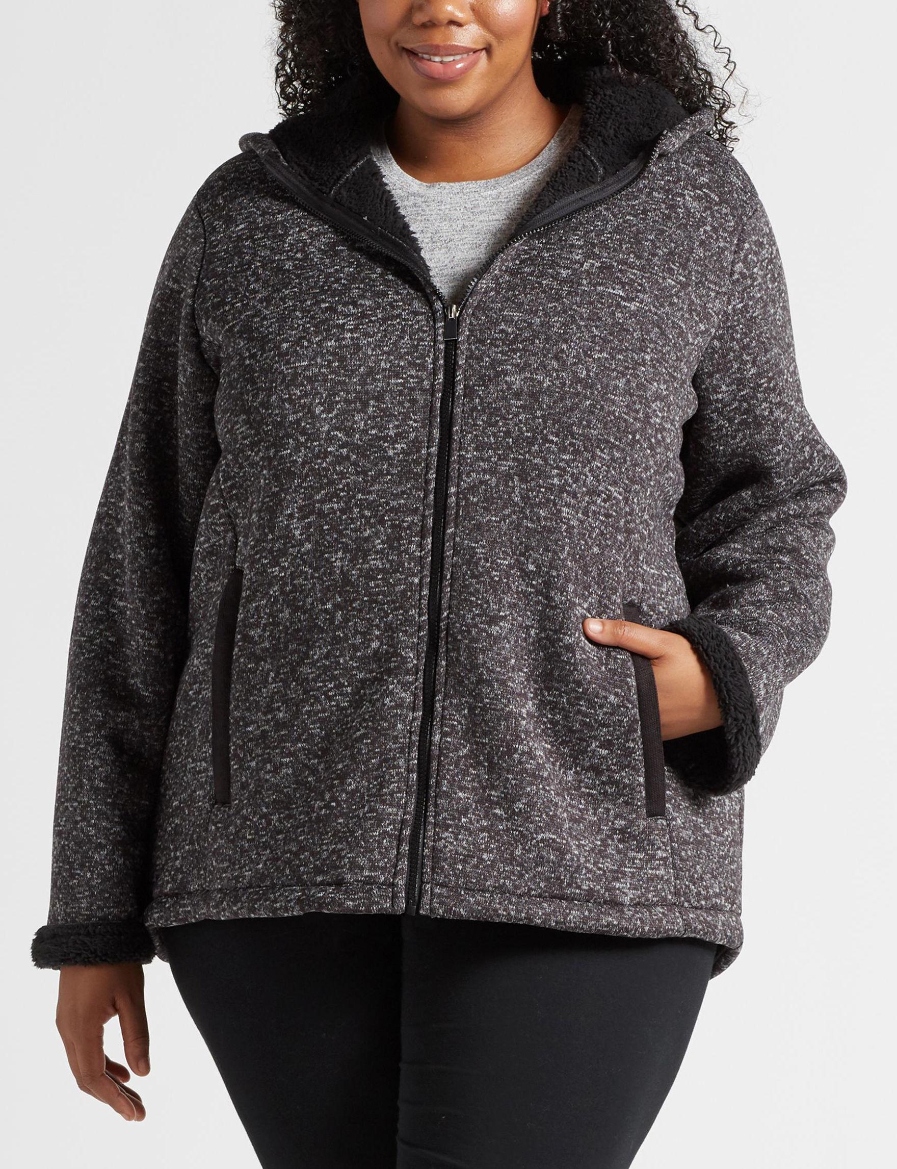 Details Black / White Fleece & Soft Shell Jackets