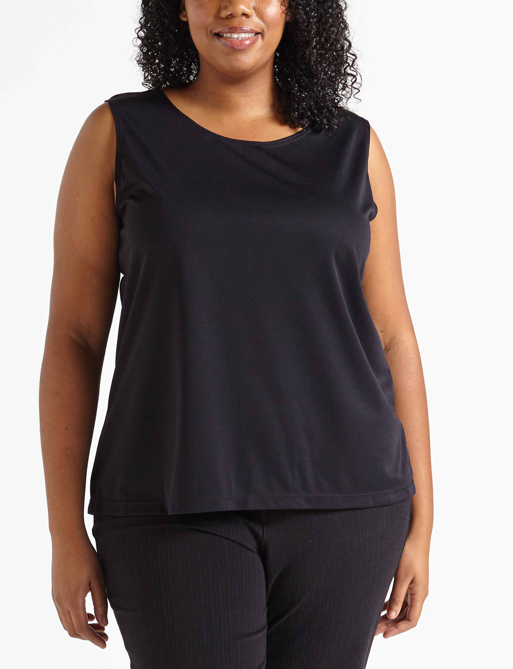 Plus-Size Solid Color Knit Tank Top | Stage Stores