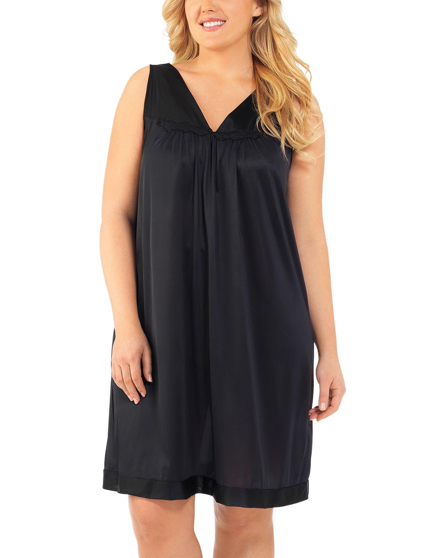 Exquisite Form Midnight Black Nightgowns & Sleep Shirts