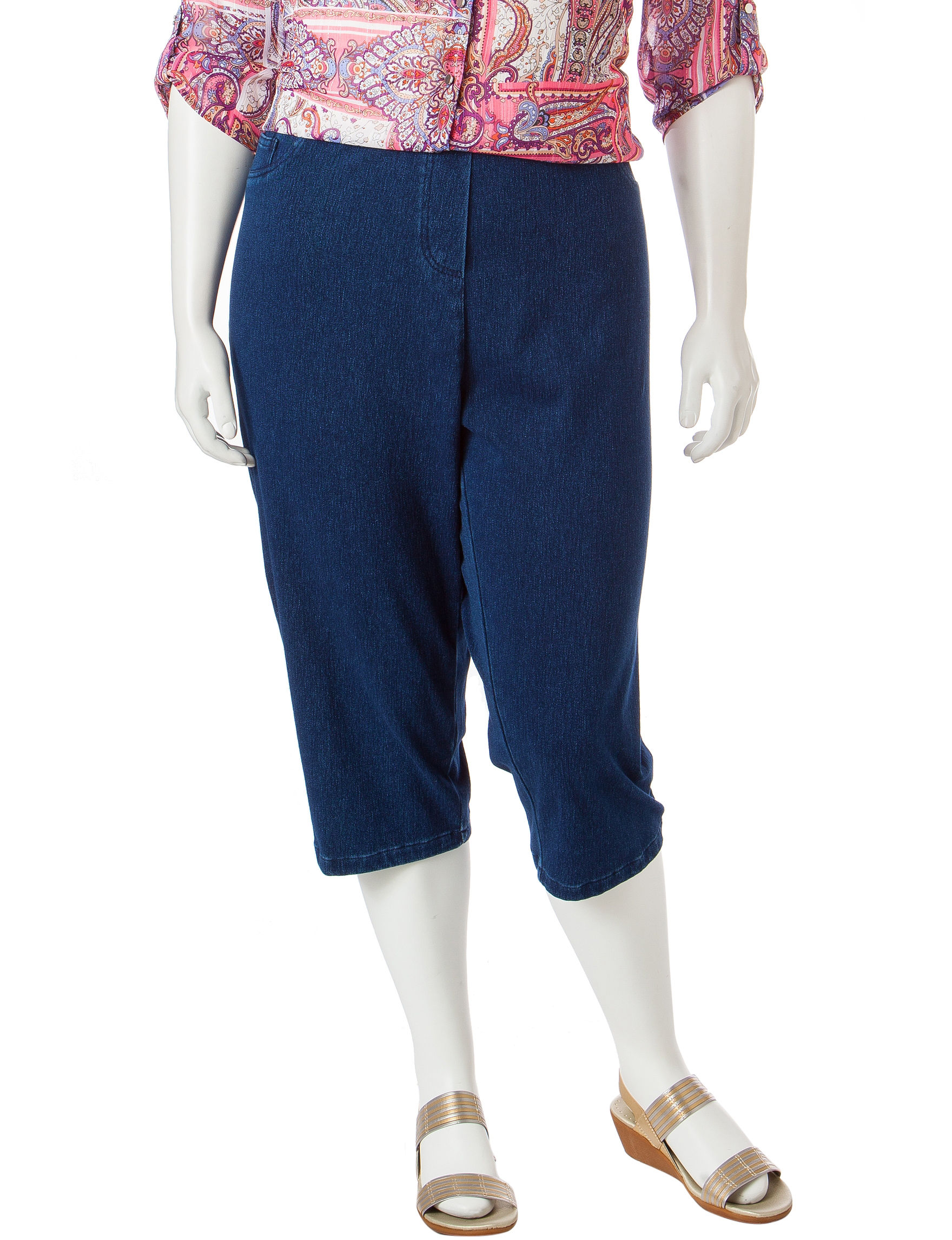 2f3fcf4e226 UPC 712439071888 product image for Cathy Daniels Plus-size Pull On Knit Denim  Capris ...
