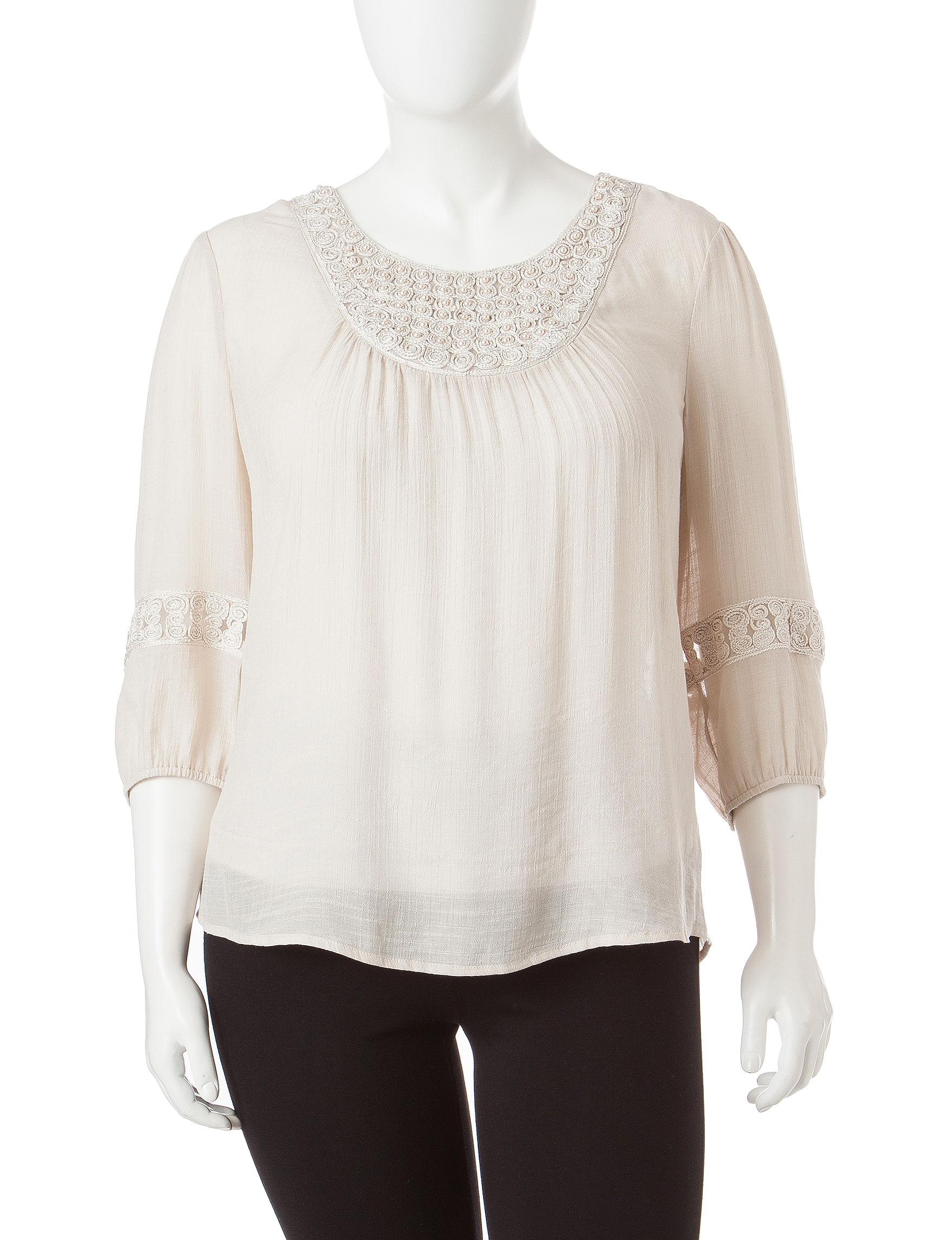 Hannah Taupe Shirts & Blouses