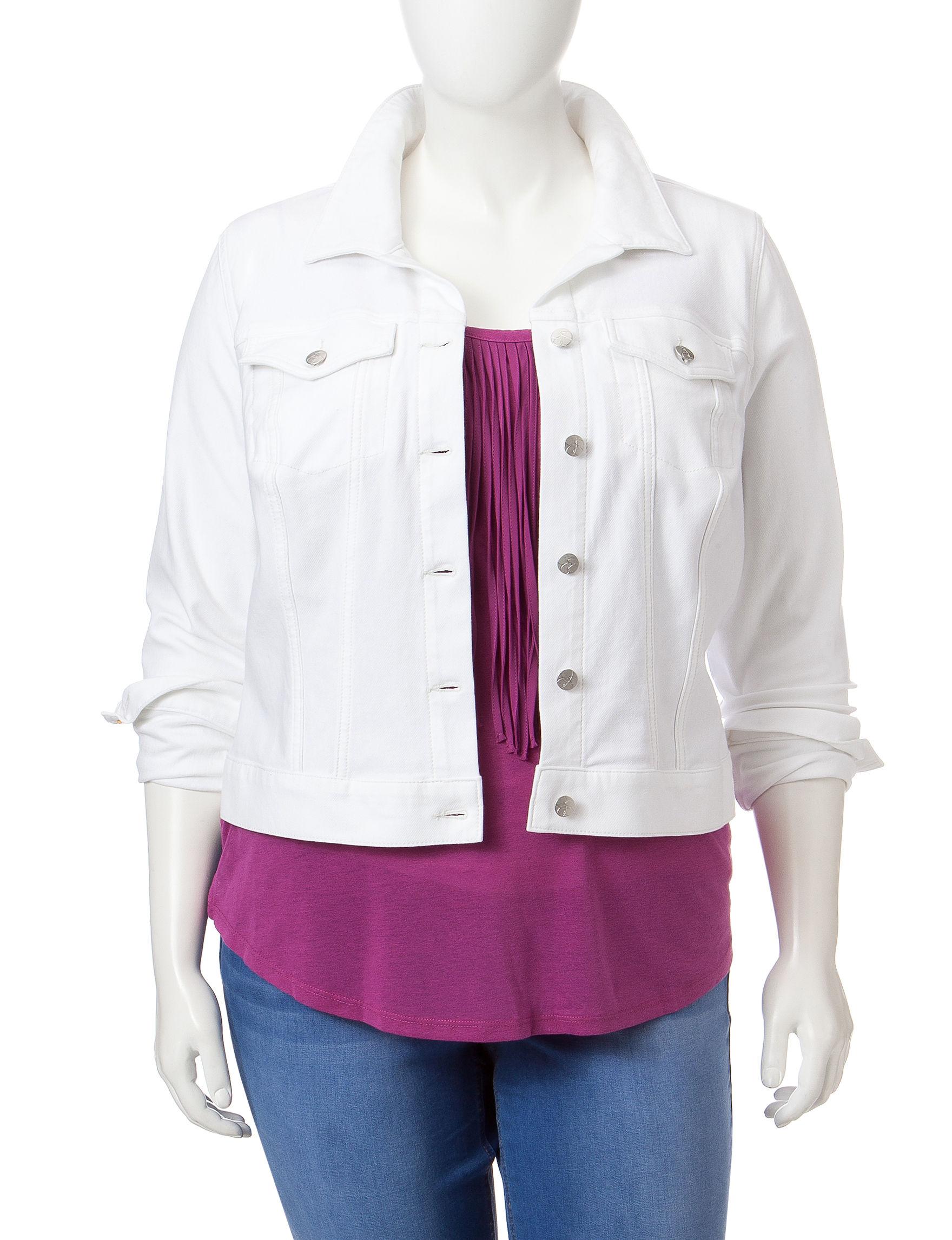 Jessica Simpson White Lightweight Jackets & Blazers