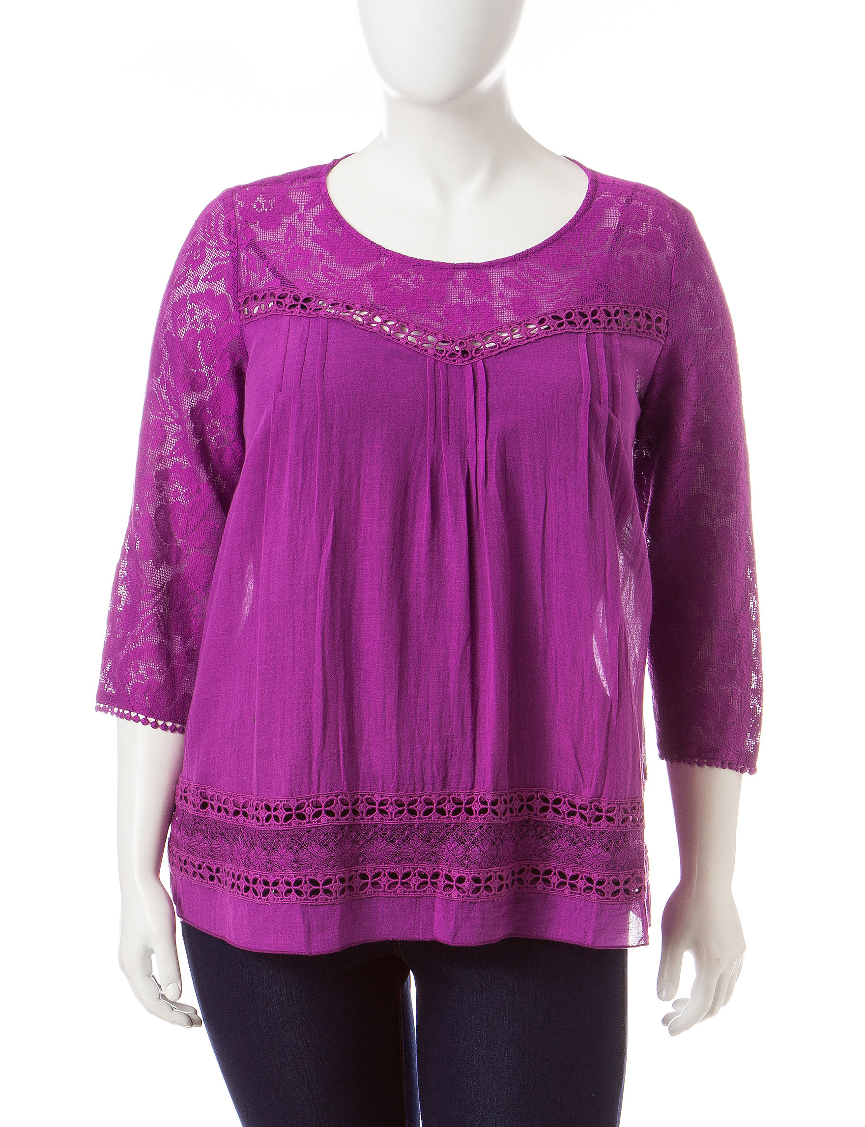 Hannah Purple Shirts & Blouses
