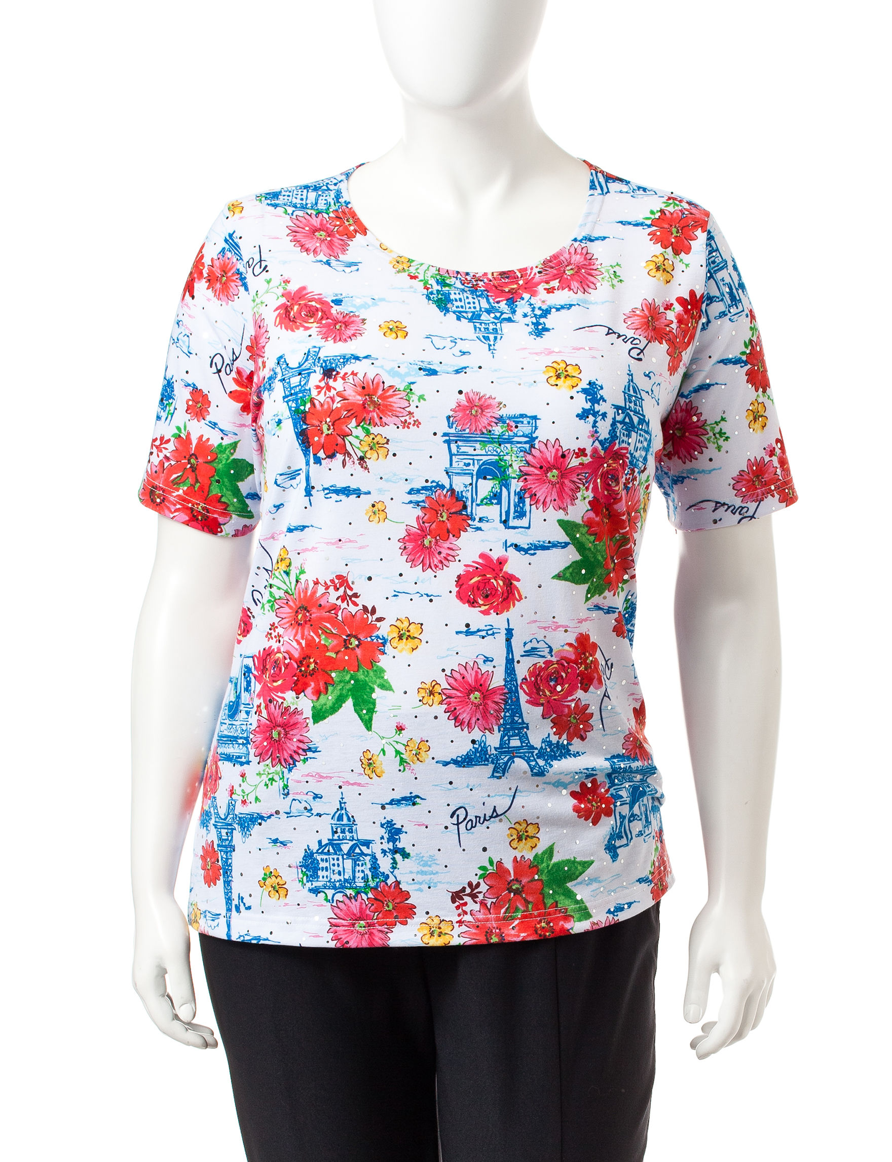 Rebecca Malone Black / White / Floral Tees & Tanks