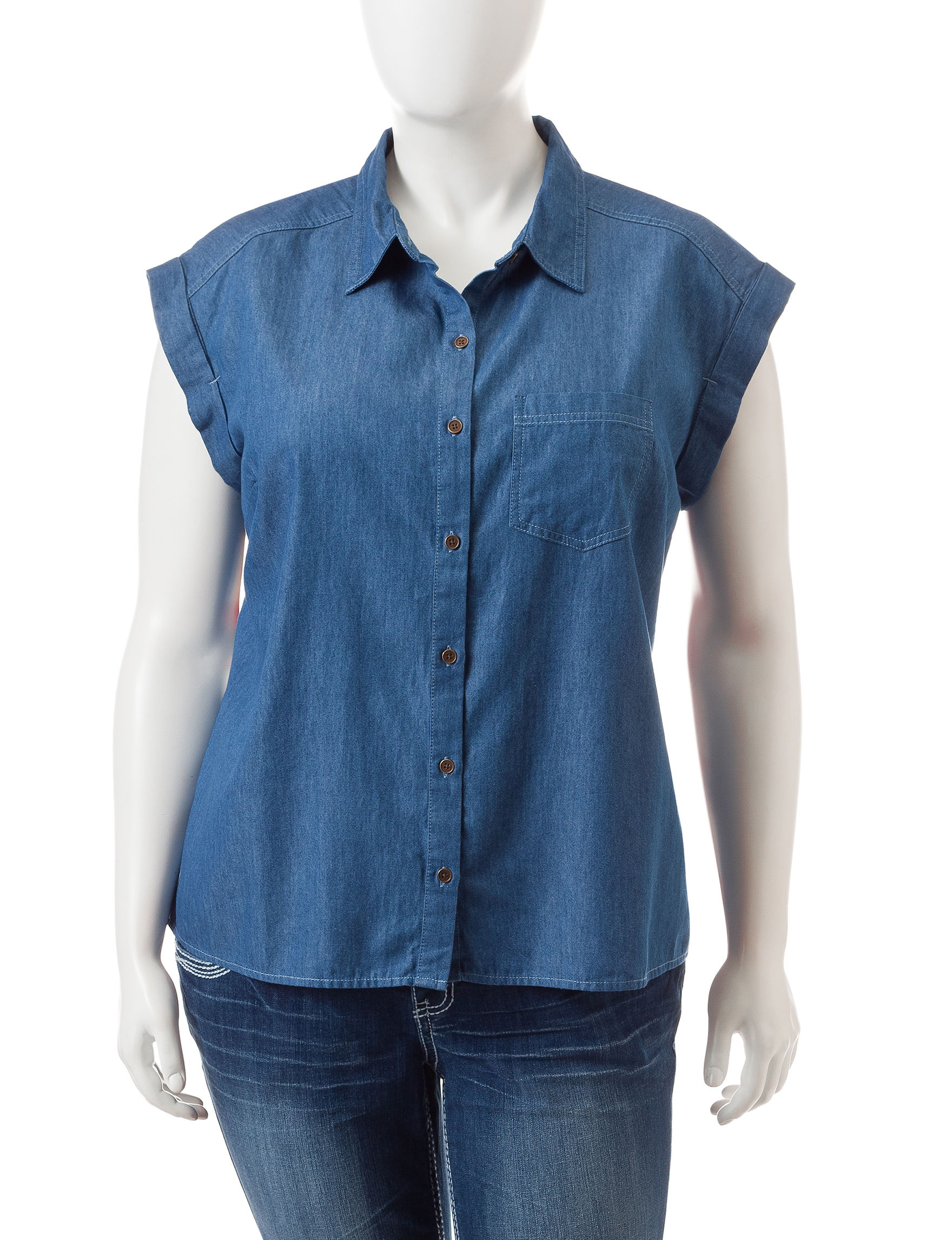 Signature Studio Medium Wash Shirts & Blouses