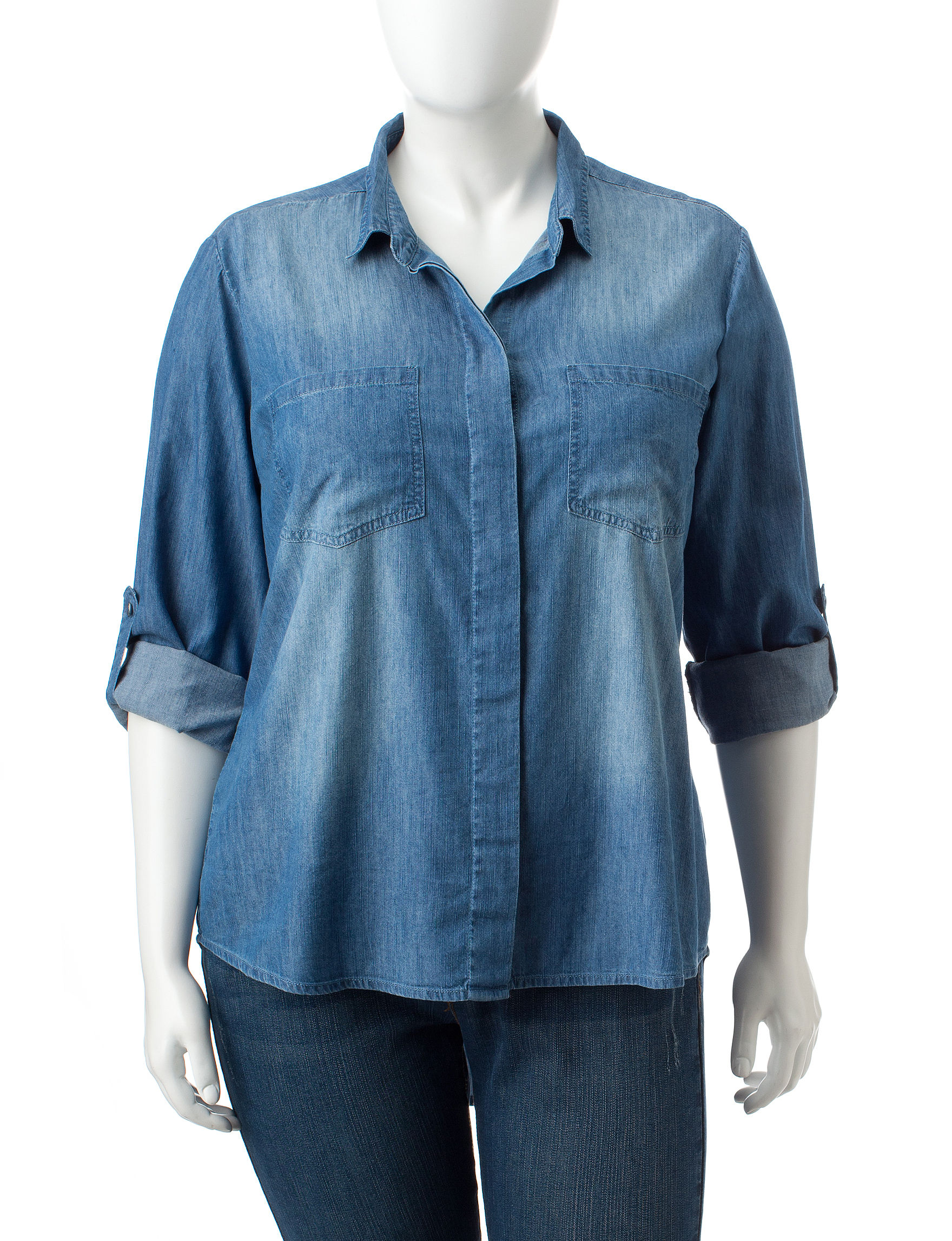 Hannah Medium Blue Shirts & Blouses
