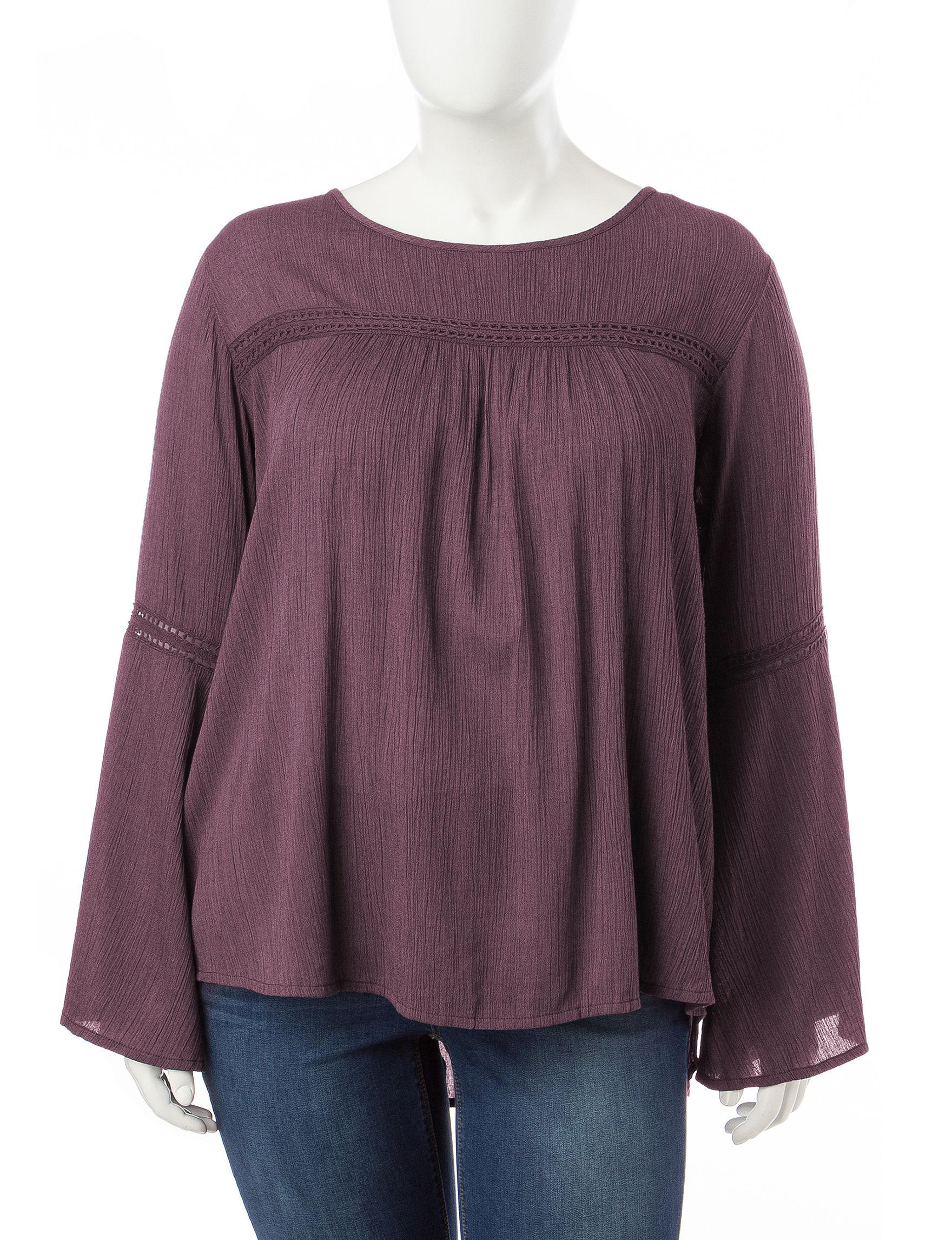 Hannah Wine Shirts & Blouses
