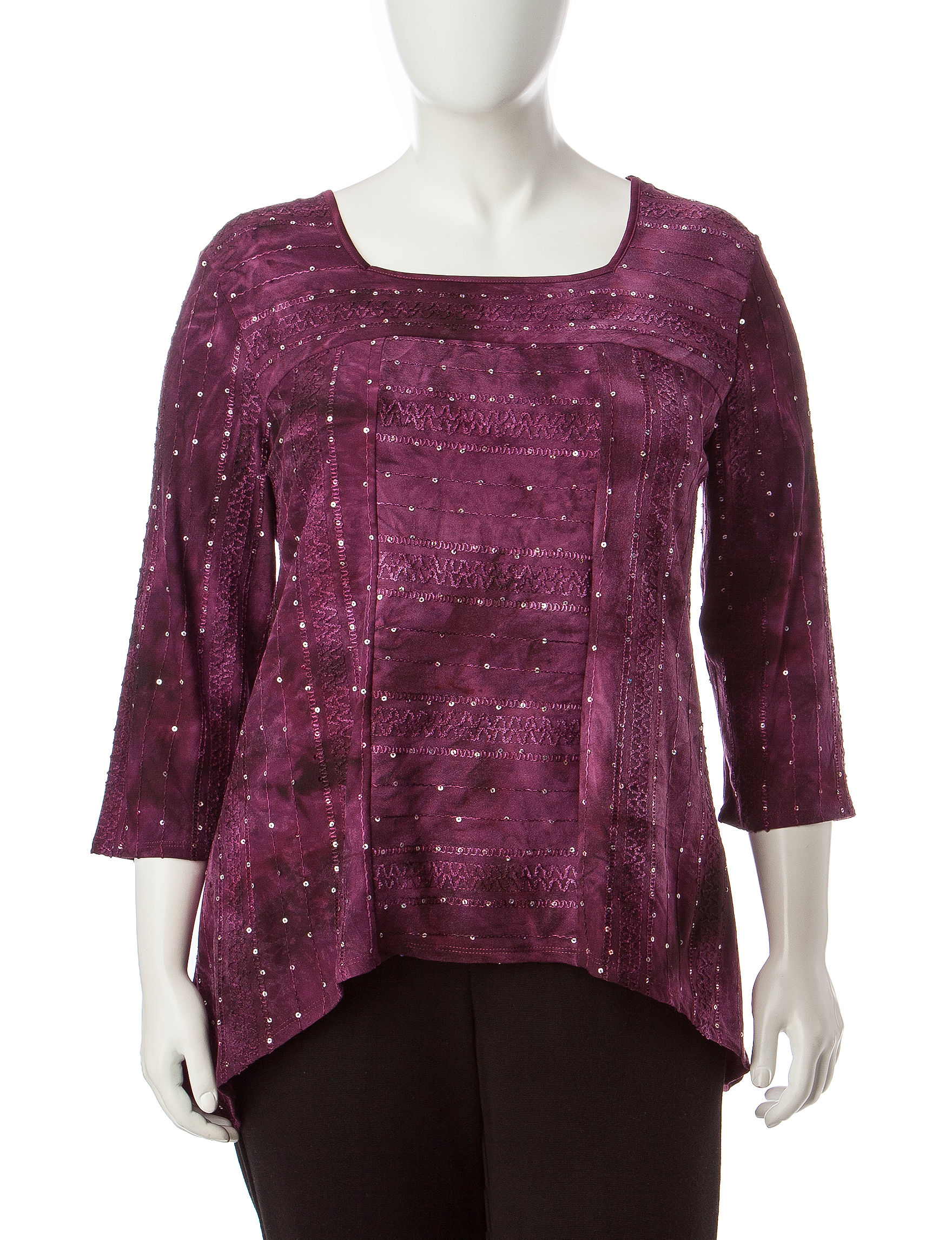 Alfred Dunner Red Shirts & Blouses