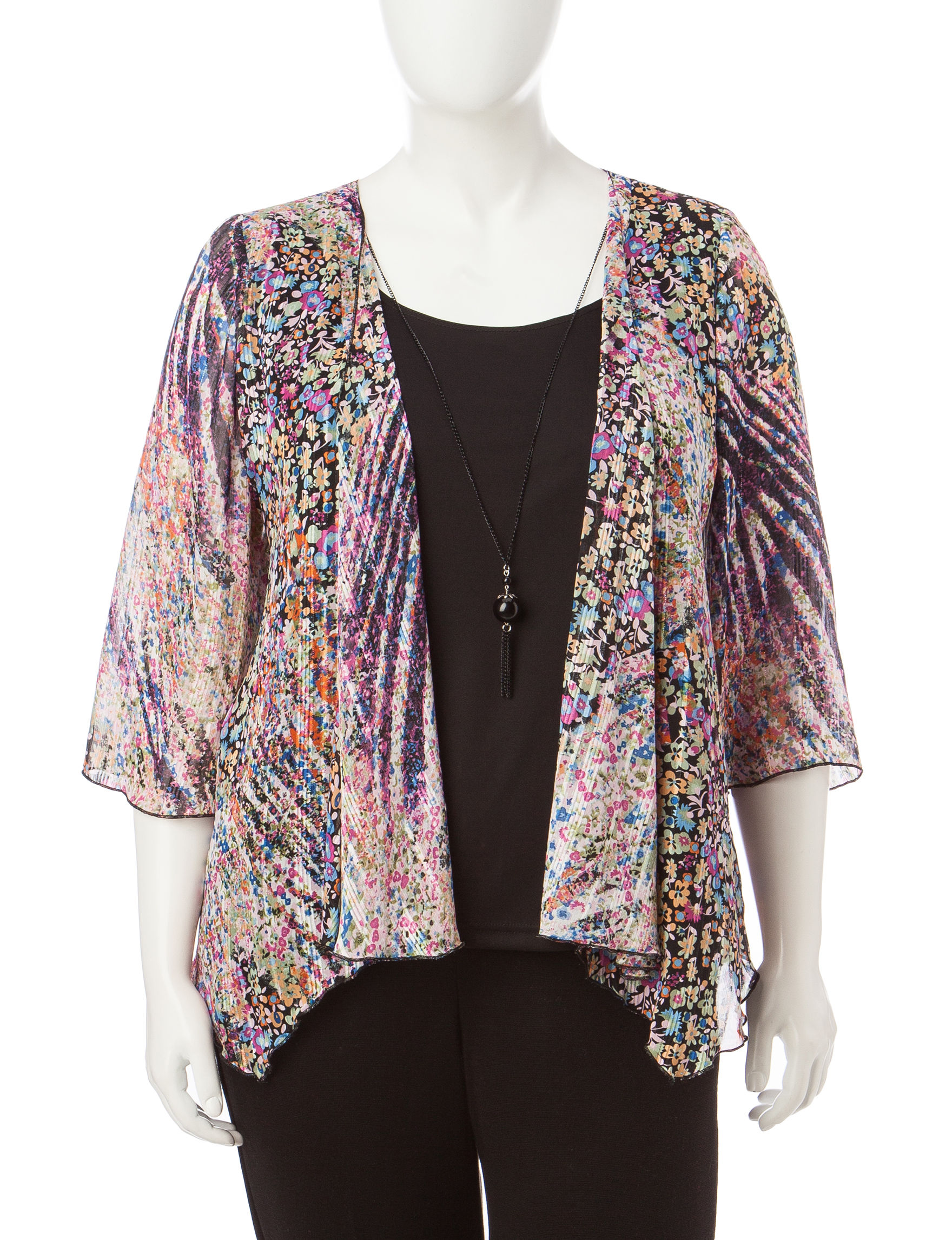 Rebecca Malone Pink Floral Shirts & Blouses