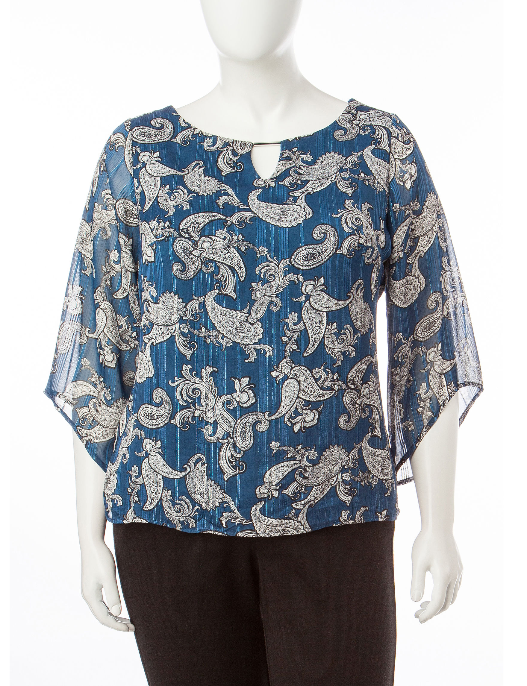 Rebecca Malone White / Green Shirts & Blouses