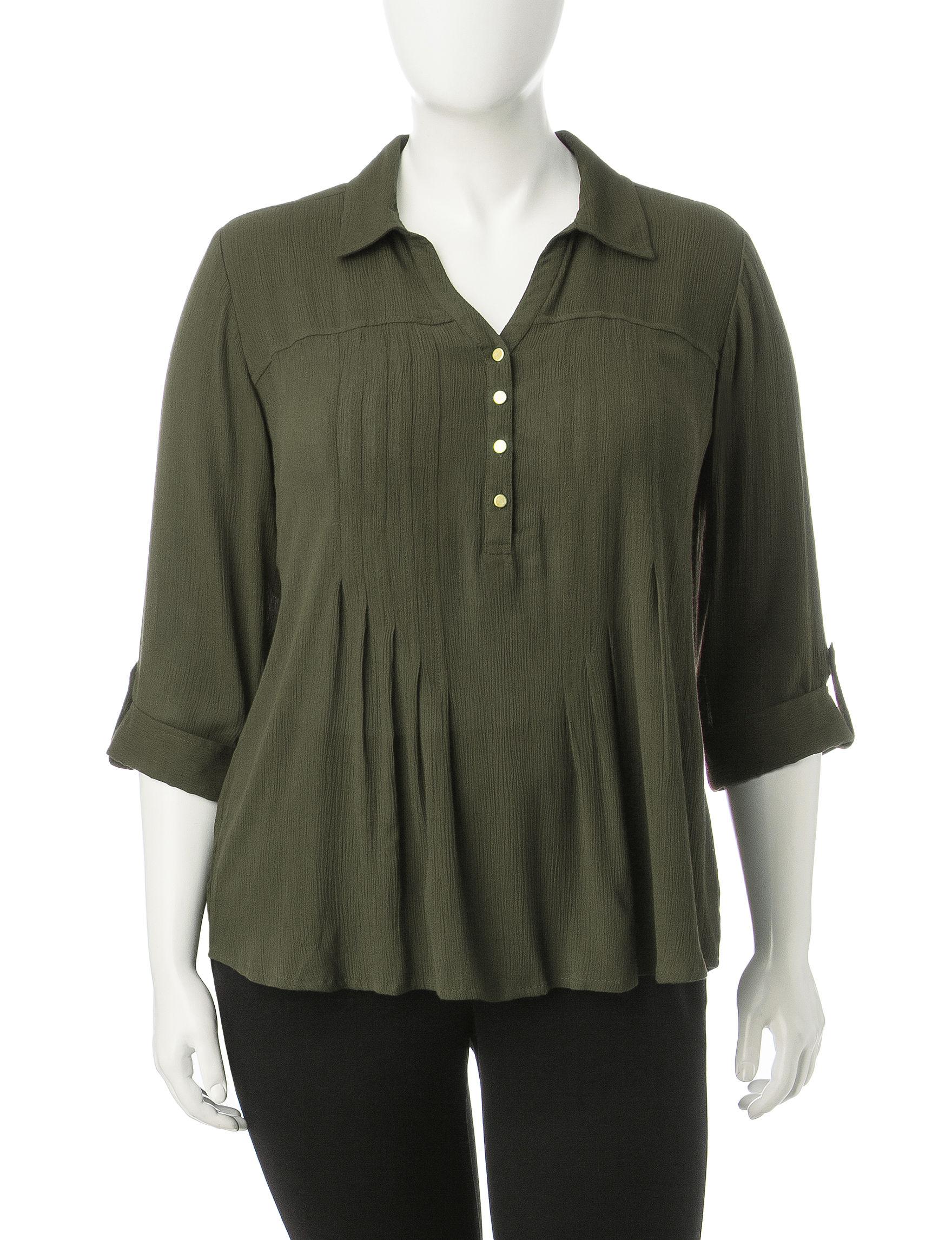 Hannah Olive Shirts & Blouses
