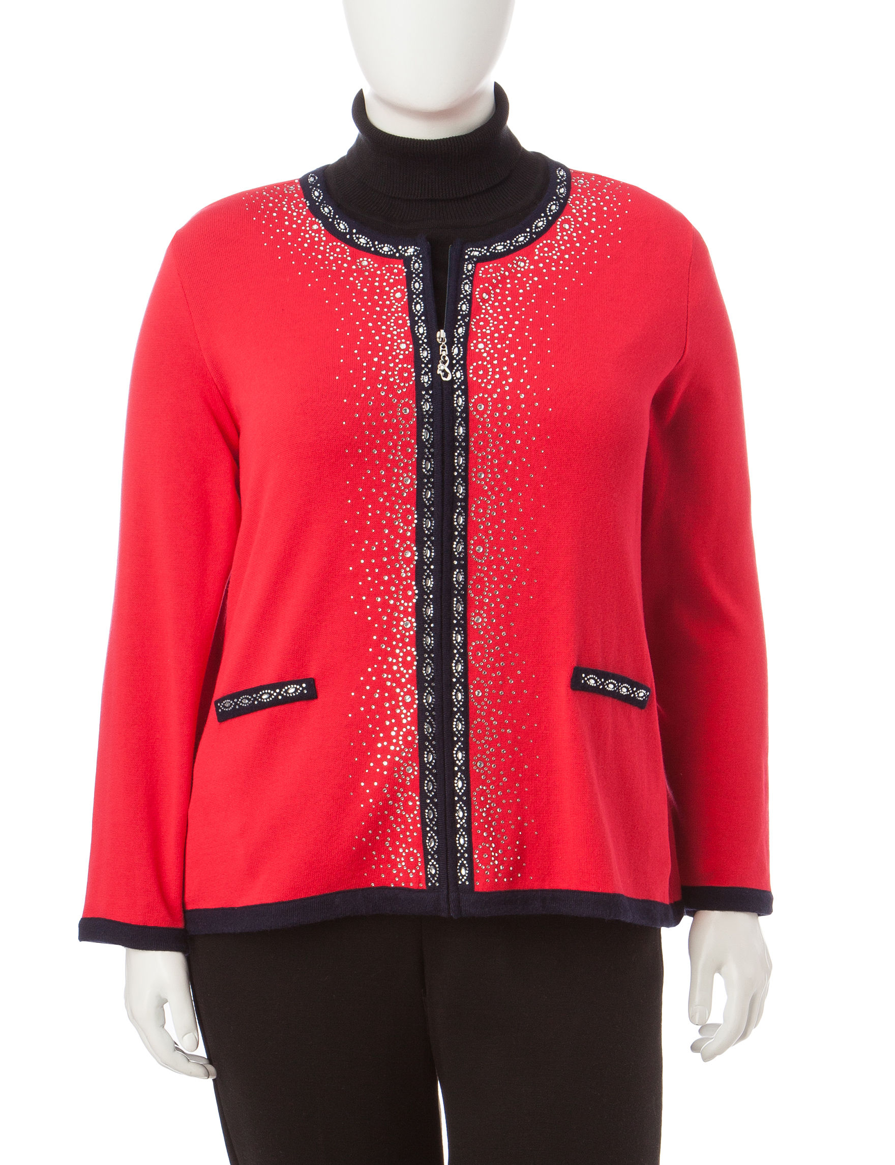 Cathy Daniels Red / Navy Cardigans