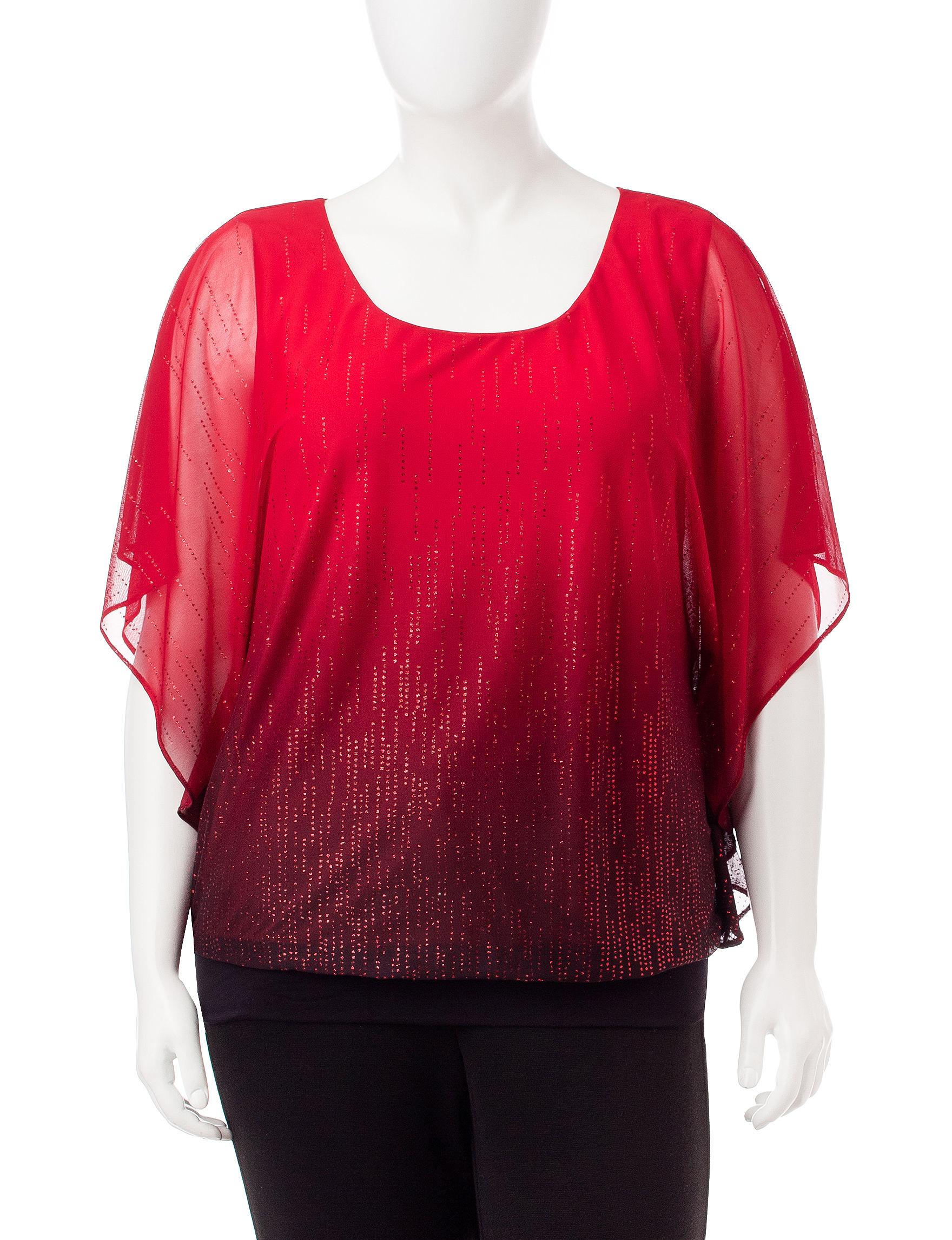 Rebecca Malone Red / Black Shirts & Blouses