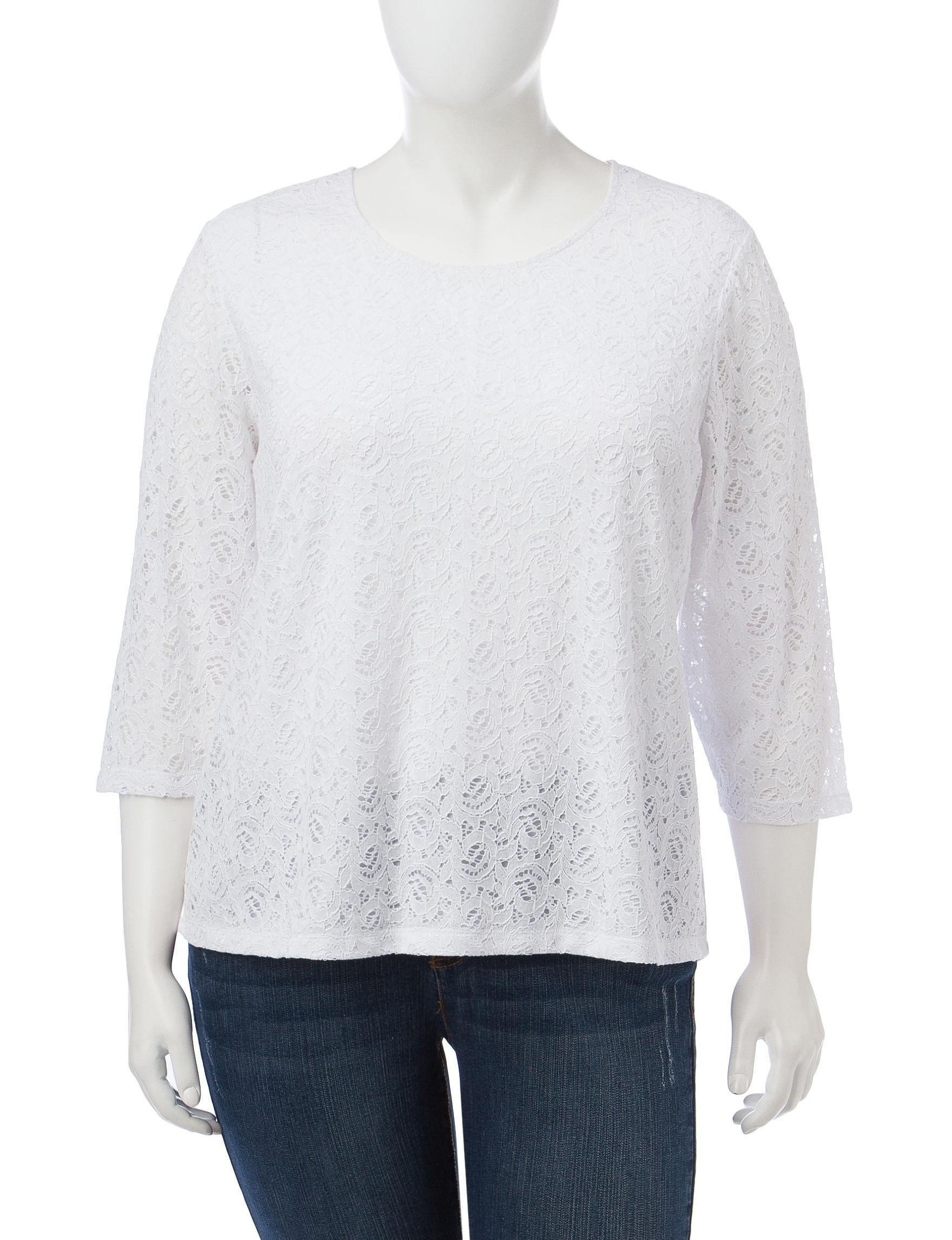Cathy Daniels White Shirts & Blouses
