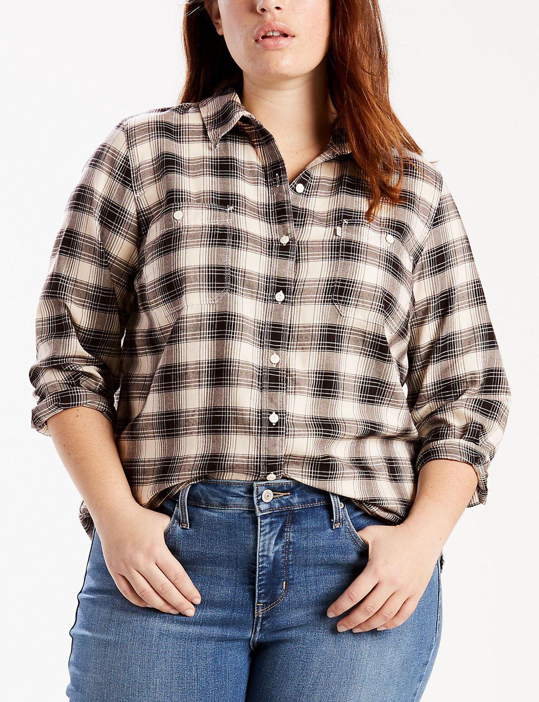 Levi's Oatmeal Shirts & Blouses