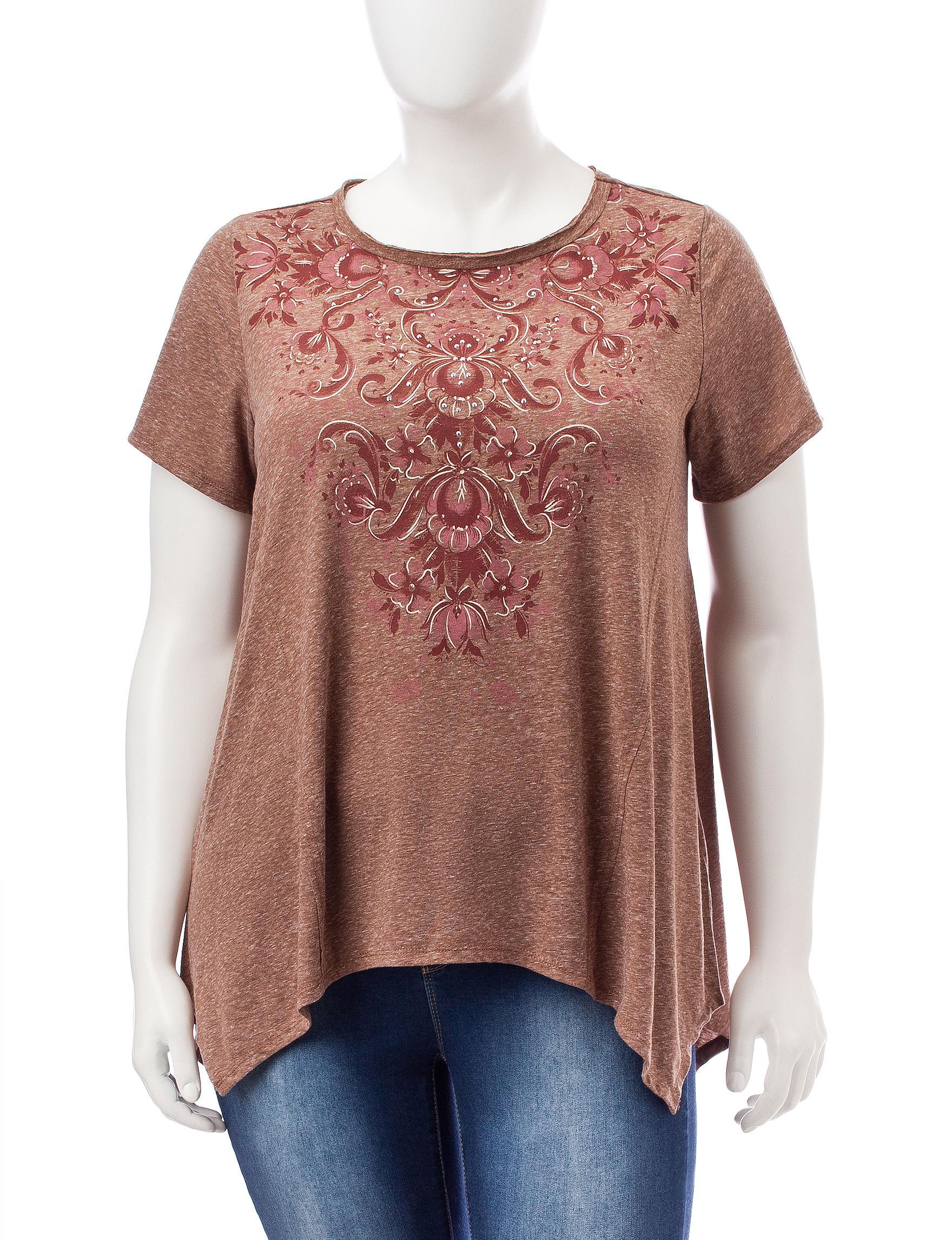 Signature Studio Brown Shirts & Blouses