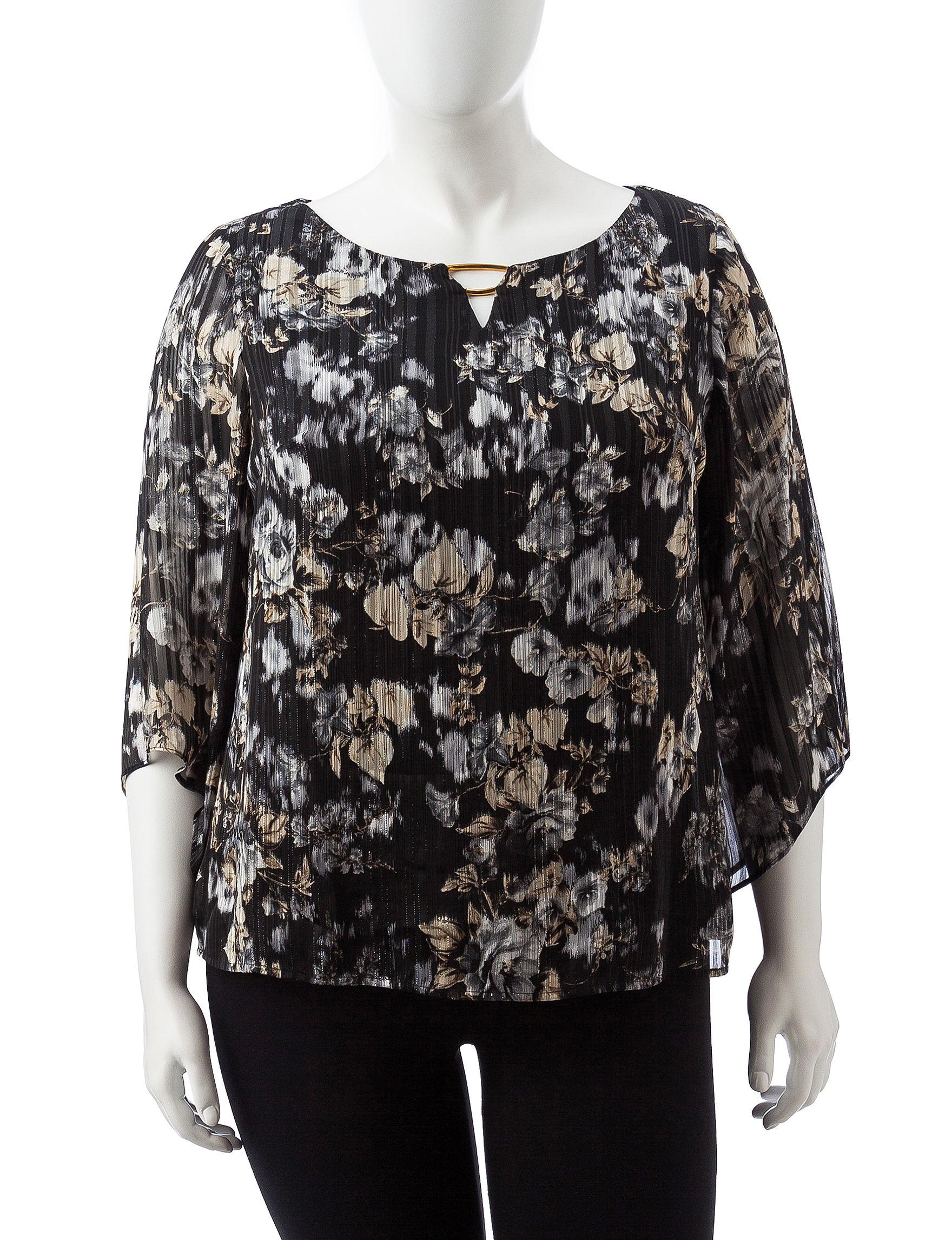 Sara Michelle Silver Shirts & Blouses