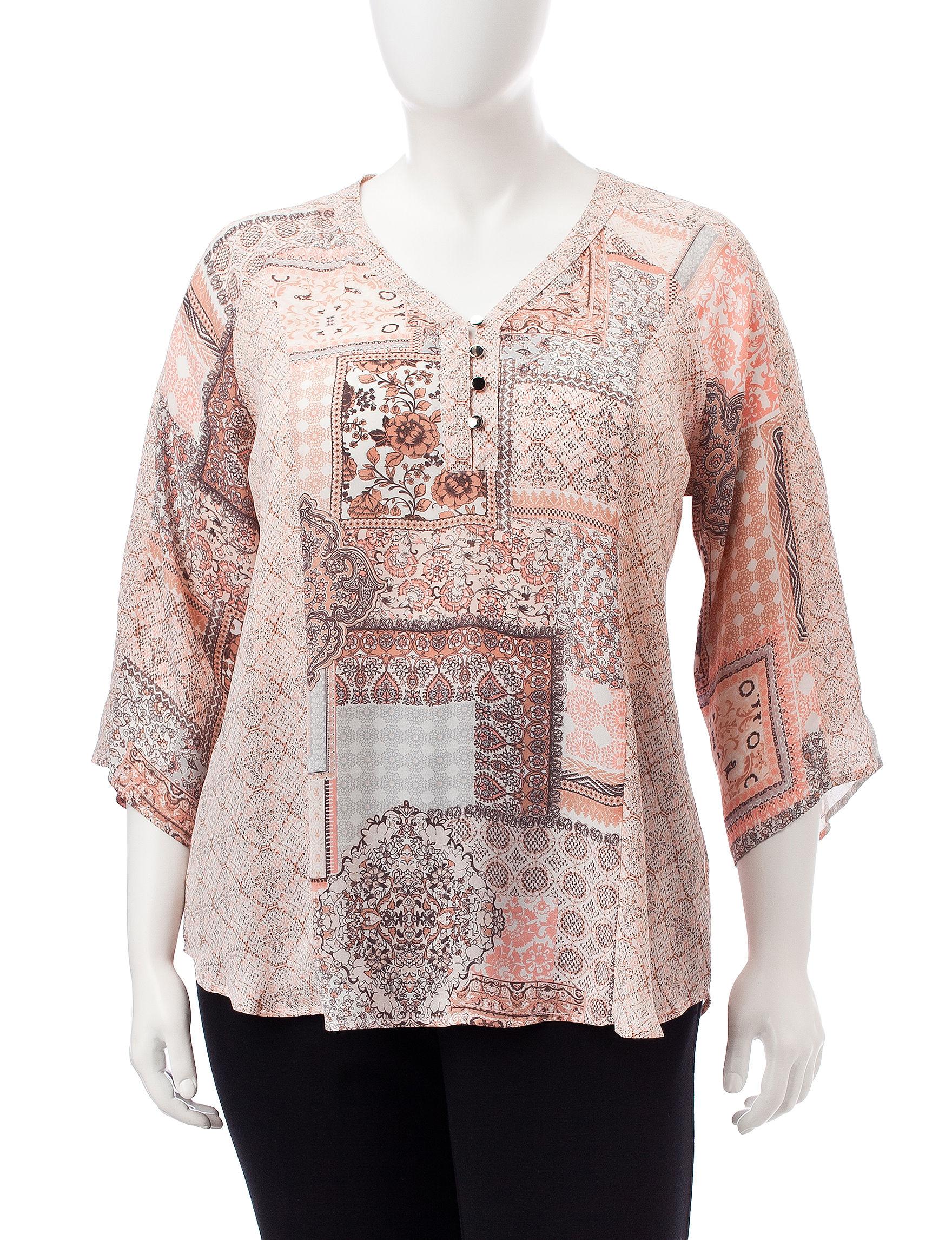 NY Collection Blush Shirts & Blouses