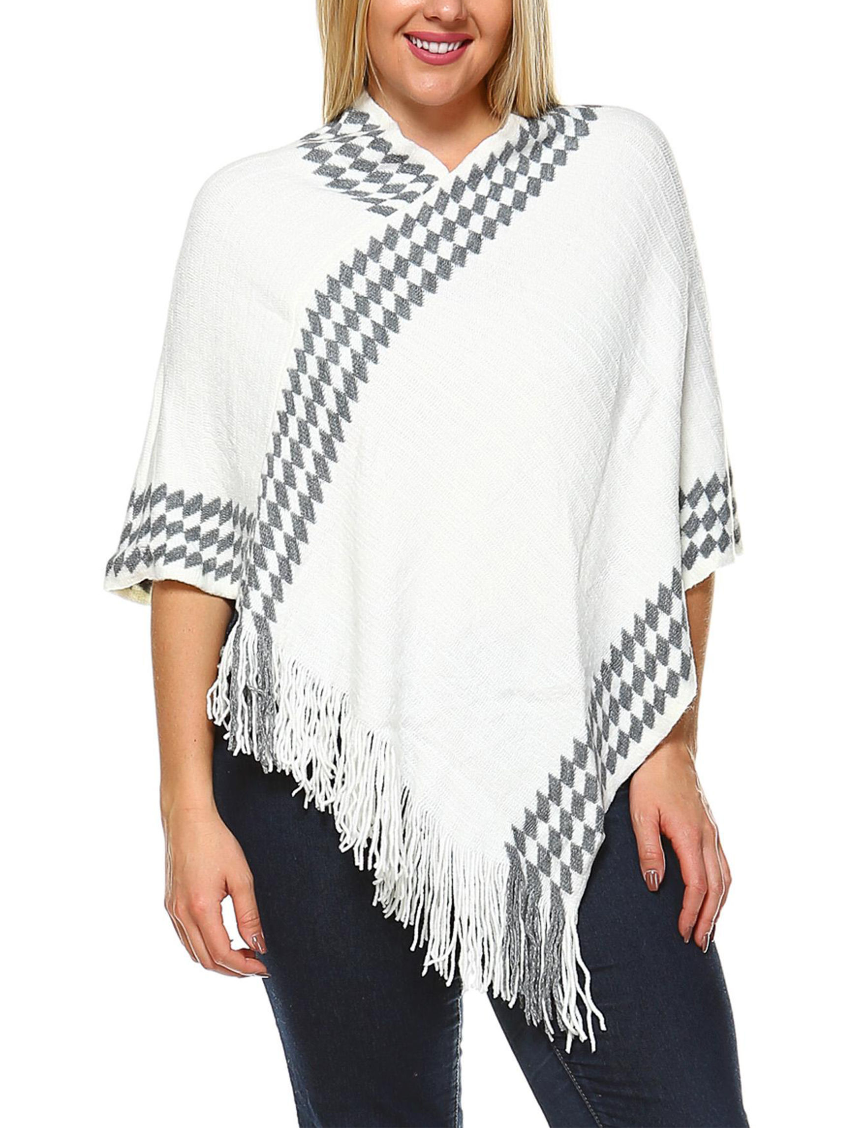 White Mark White Ponchos1
