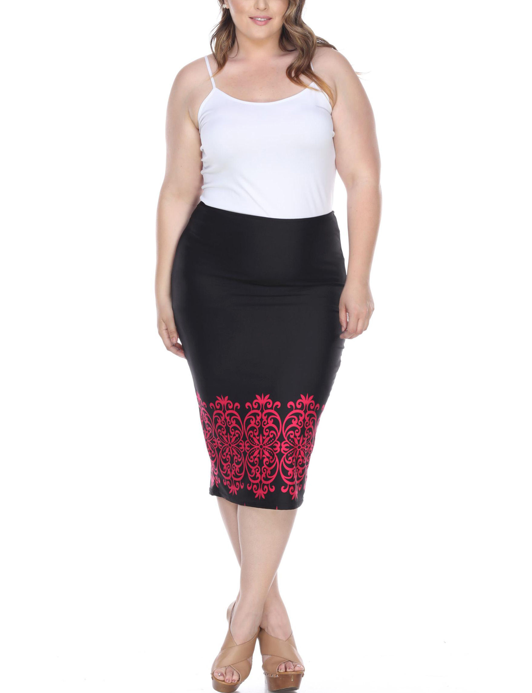 White Mark Black / Pink Evening & Formal Everyday & Casual