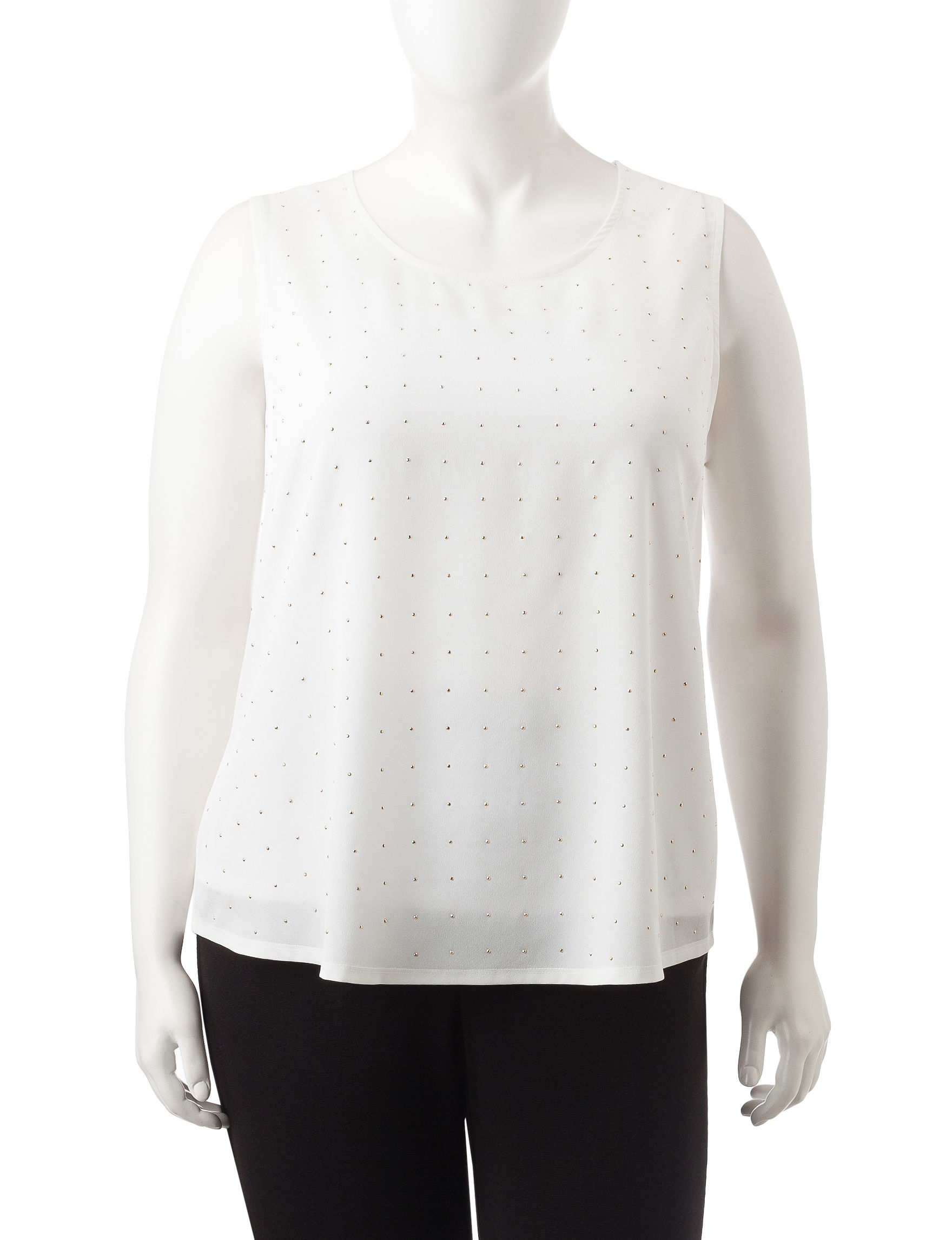 Rebecca Malone Ivory Shirts & Blouses Tees & Tanks