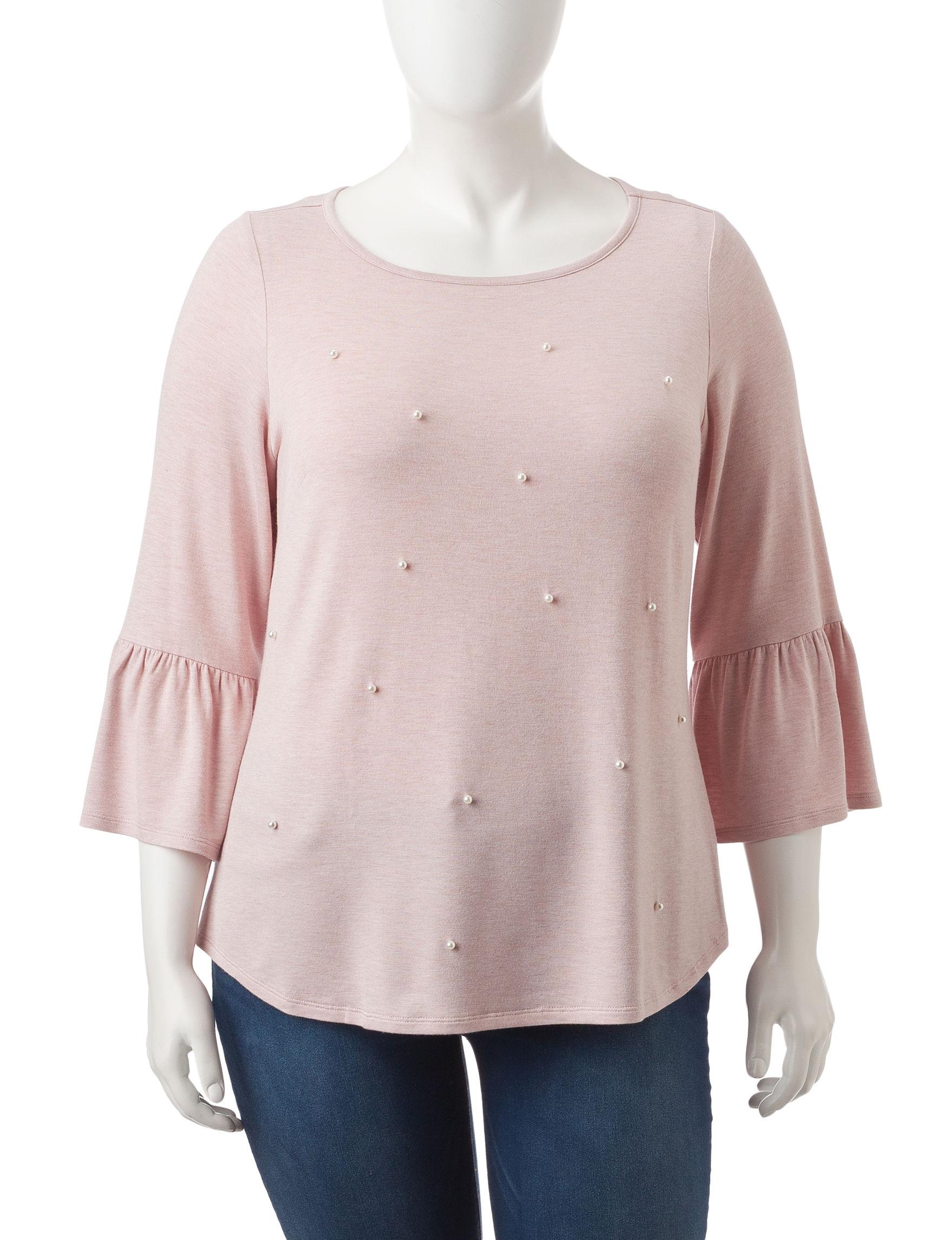 Hannah Light Pink Shirts & Blouses