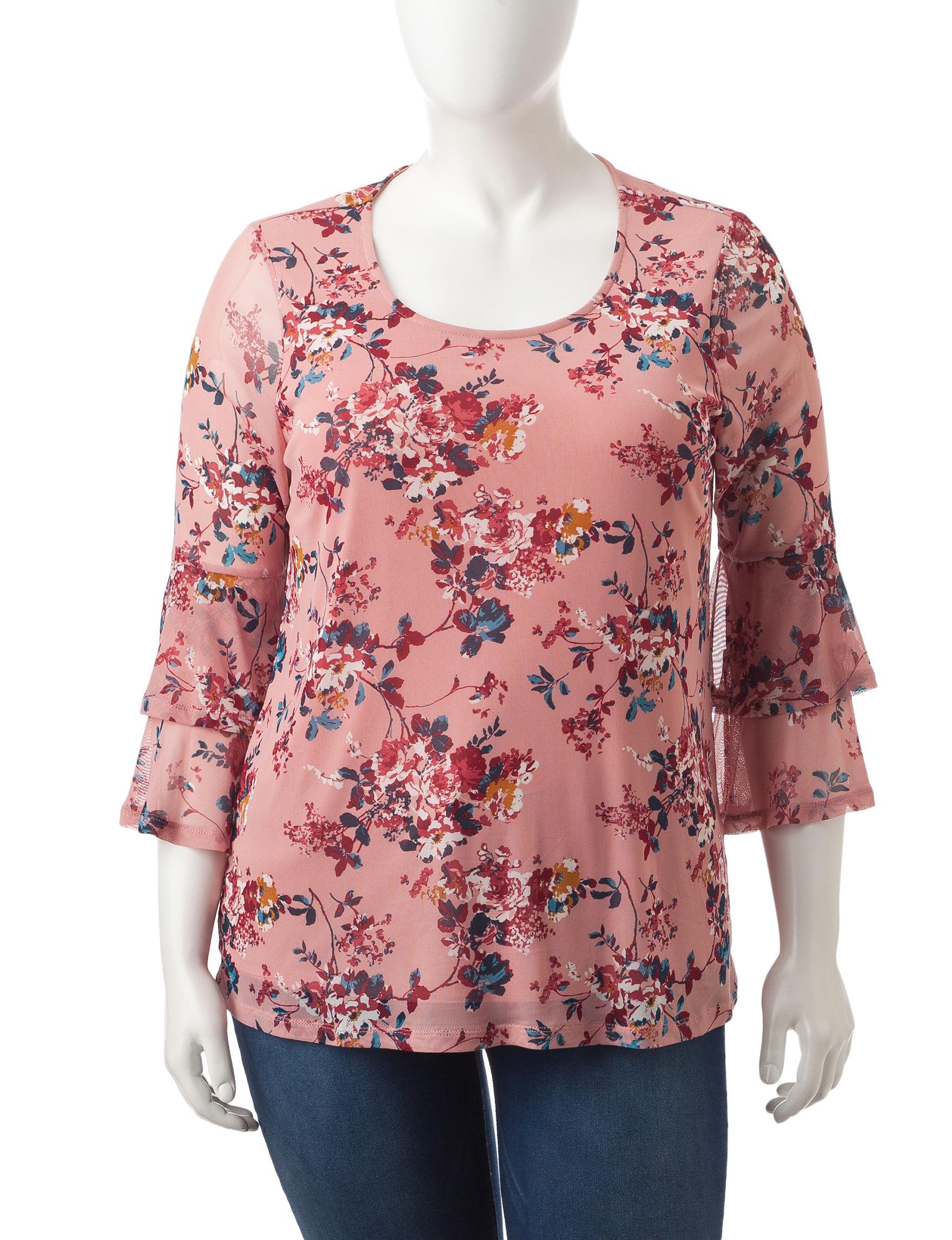 Signature Studio Pink Multi Shirts & Blouses