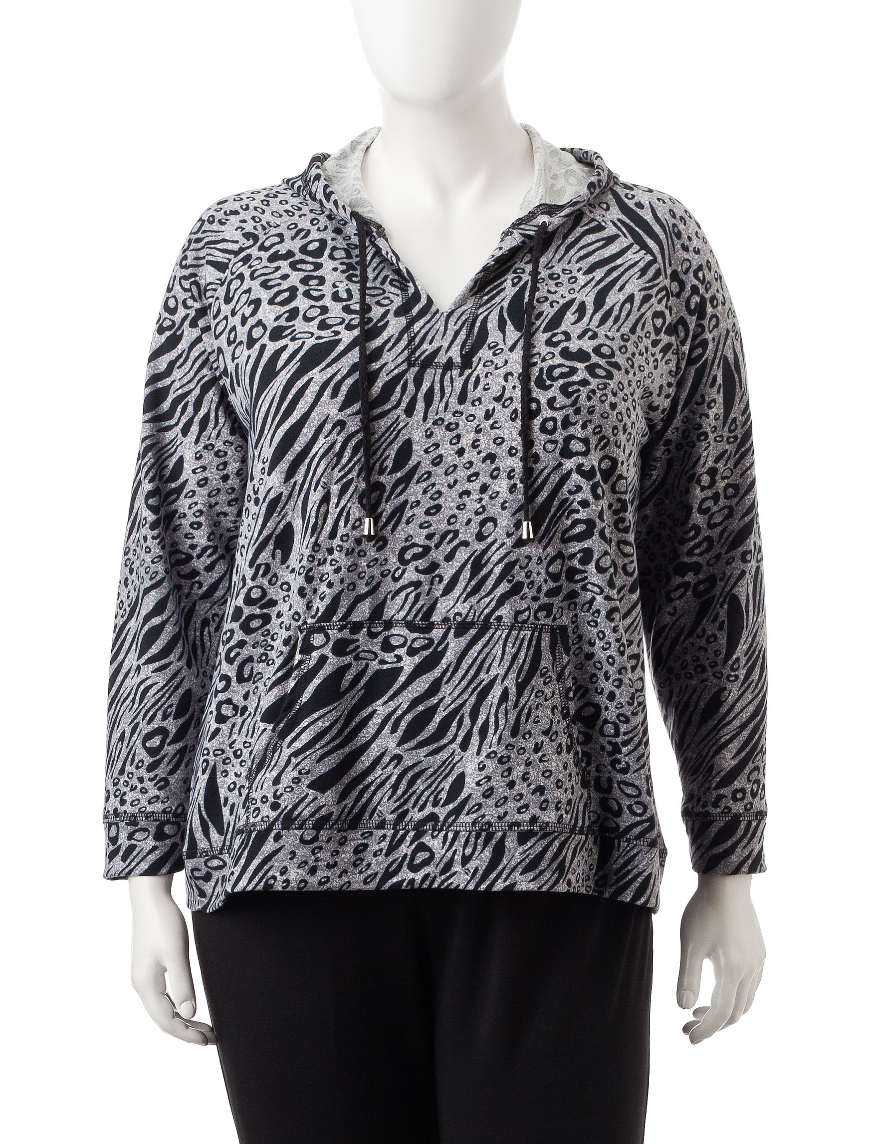 Cathy Daniels Grey / Black Pull-overs