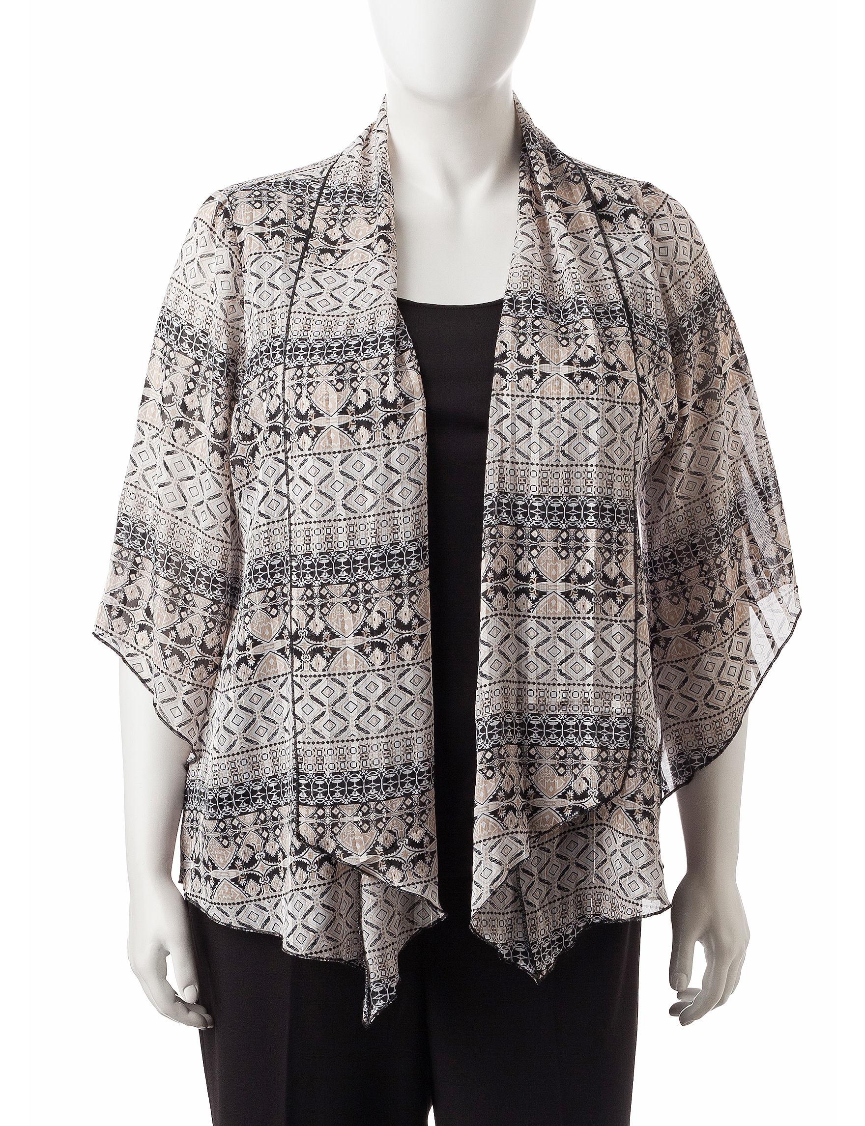 Sara Michelle Black / Ivory Shirts & Blouses