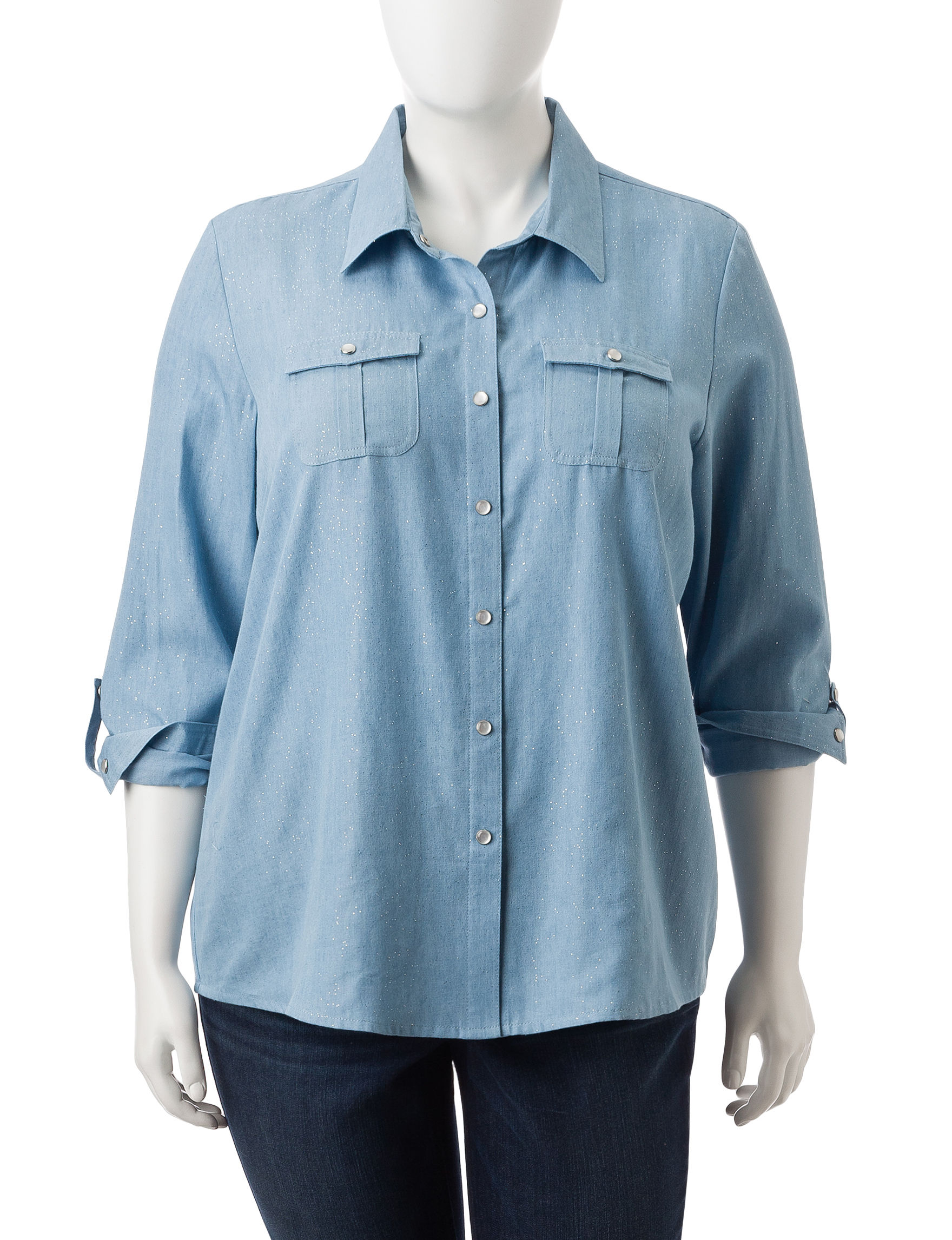 Cathy Daniels Chambray Shirts & Blouses