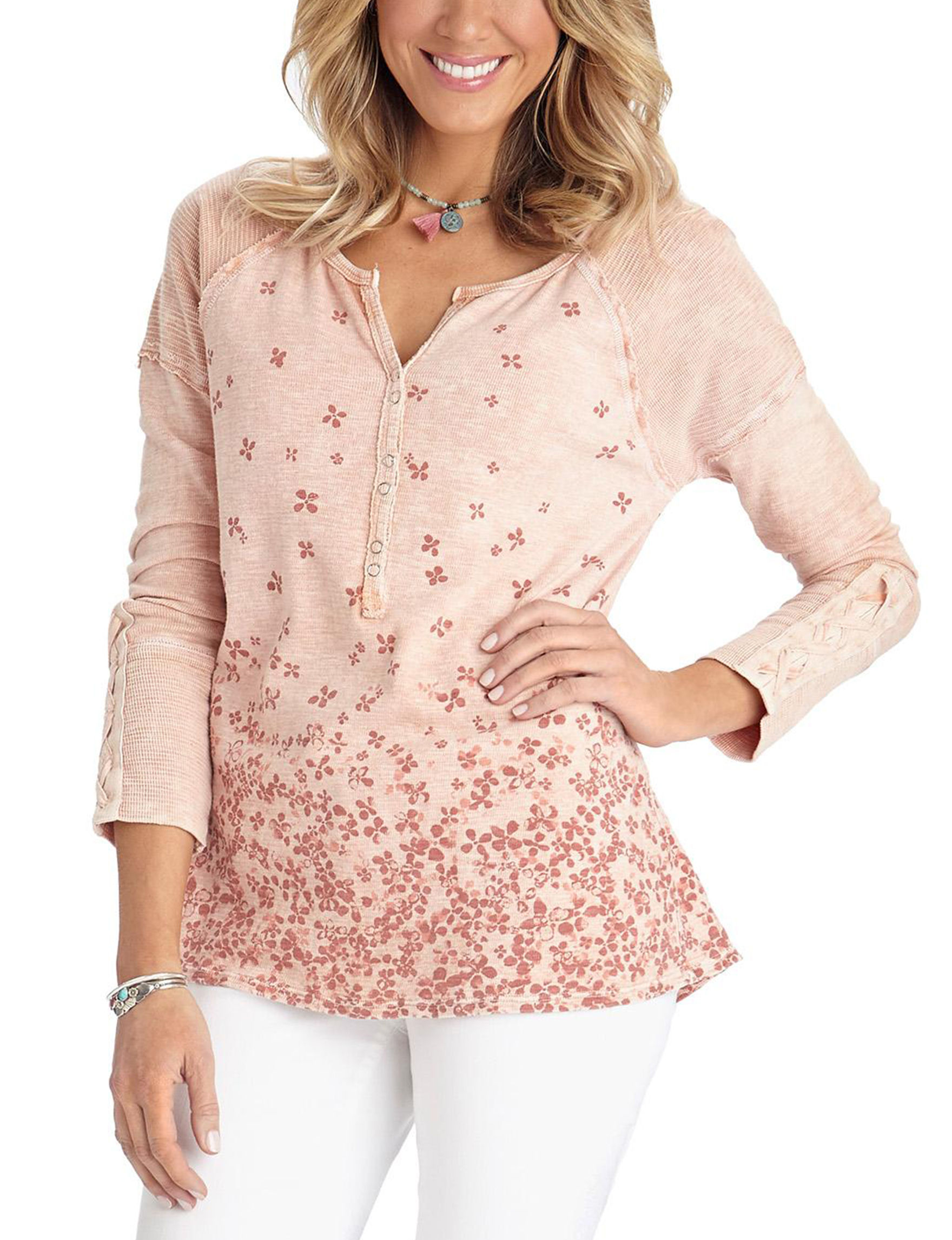 Democracy Pink Shirts & Blouses