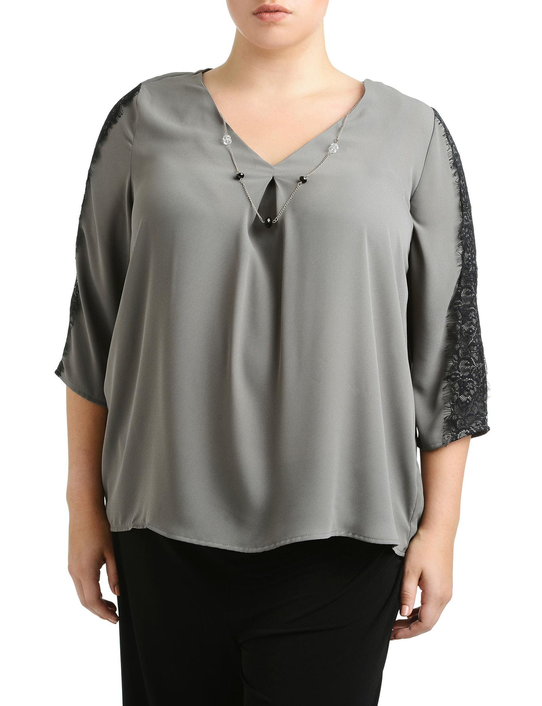 NY Collection Steel Shirts & Blouses