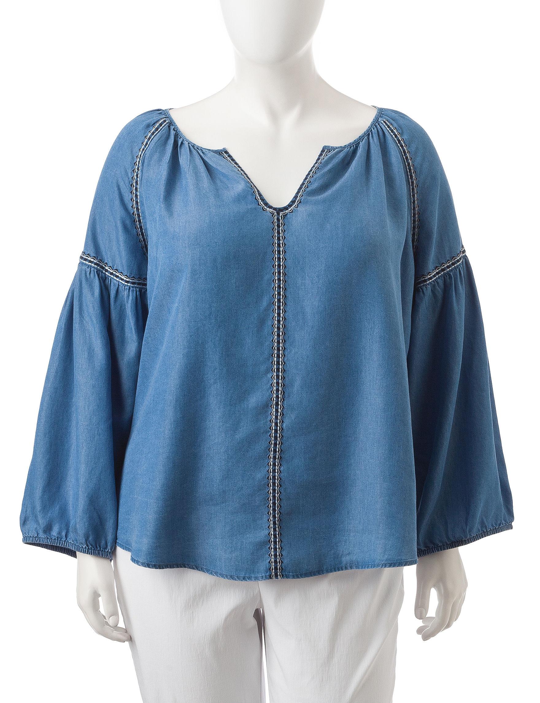 Hannah Chambray Shirts & Blouses