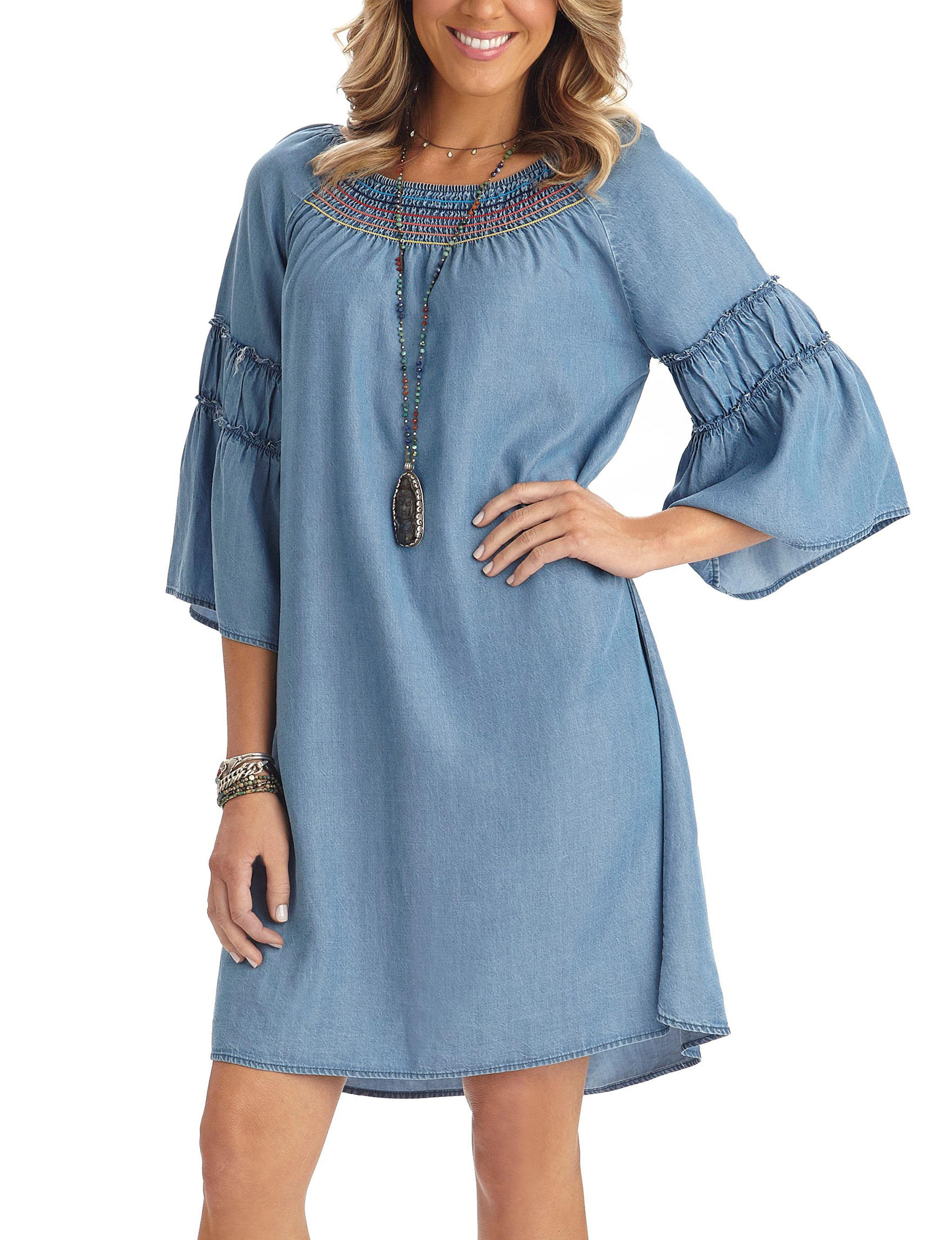 Democracy Blue Everyday & Casual Fit & Flare Dresses