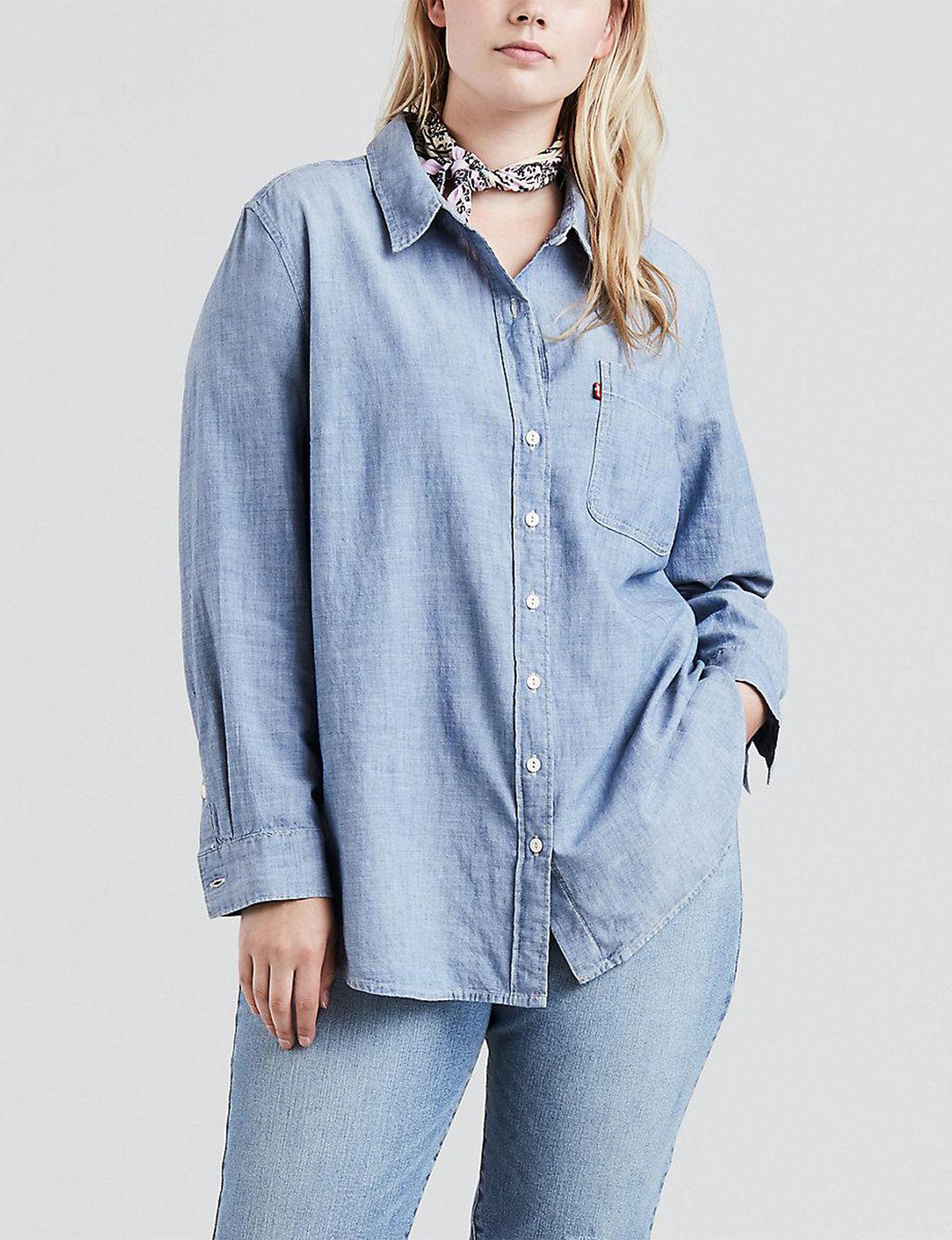Levi's Blue Shirts & Blouses