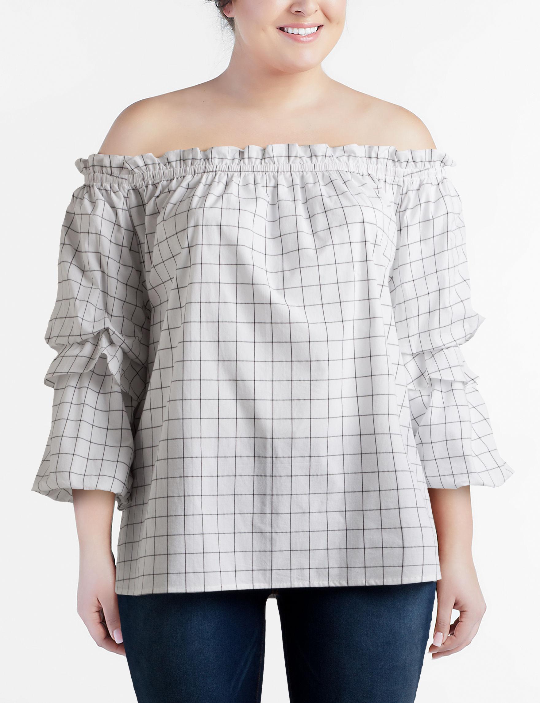 Hannah White Stripe Shirts & Blouses