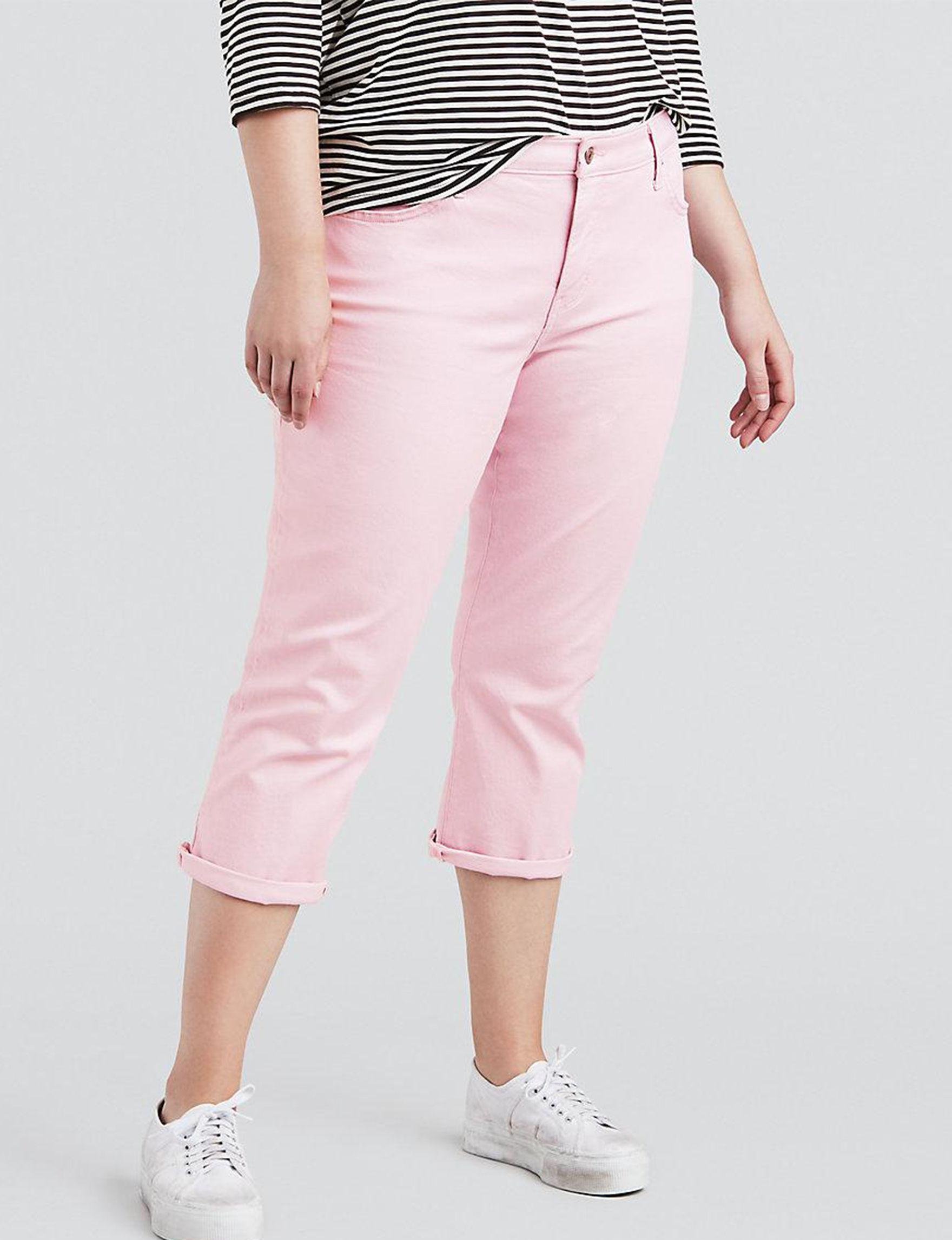 Levi's Pink Capris & Crops