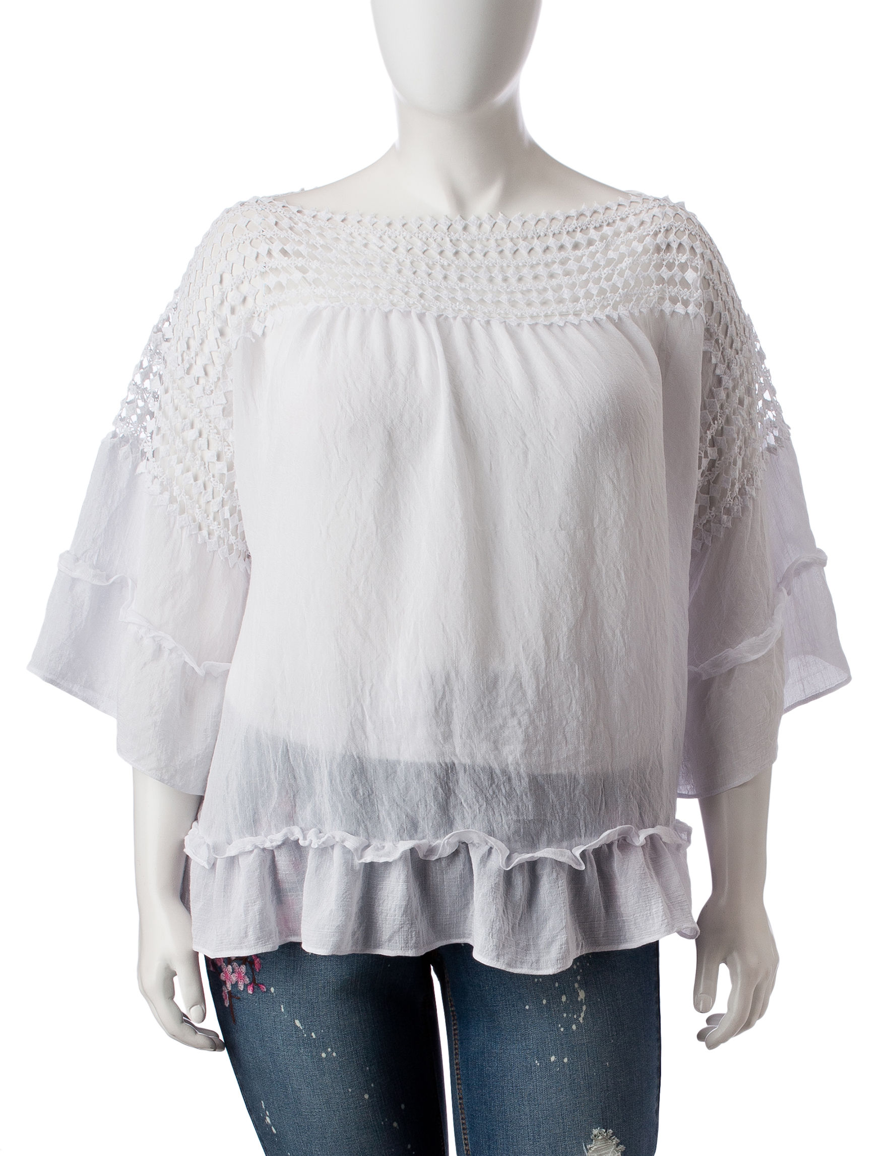 c0f65b0fe66 Zac   Rachel Plus-size Crochet   Ruffle Top