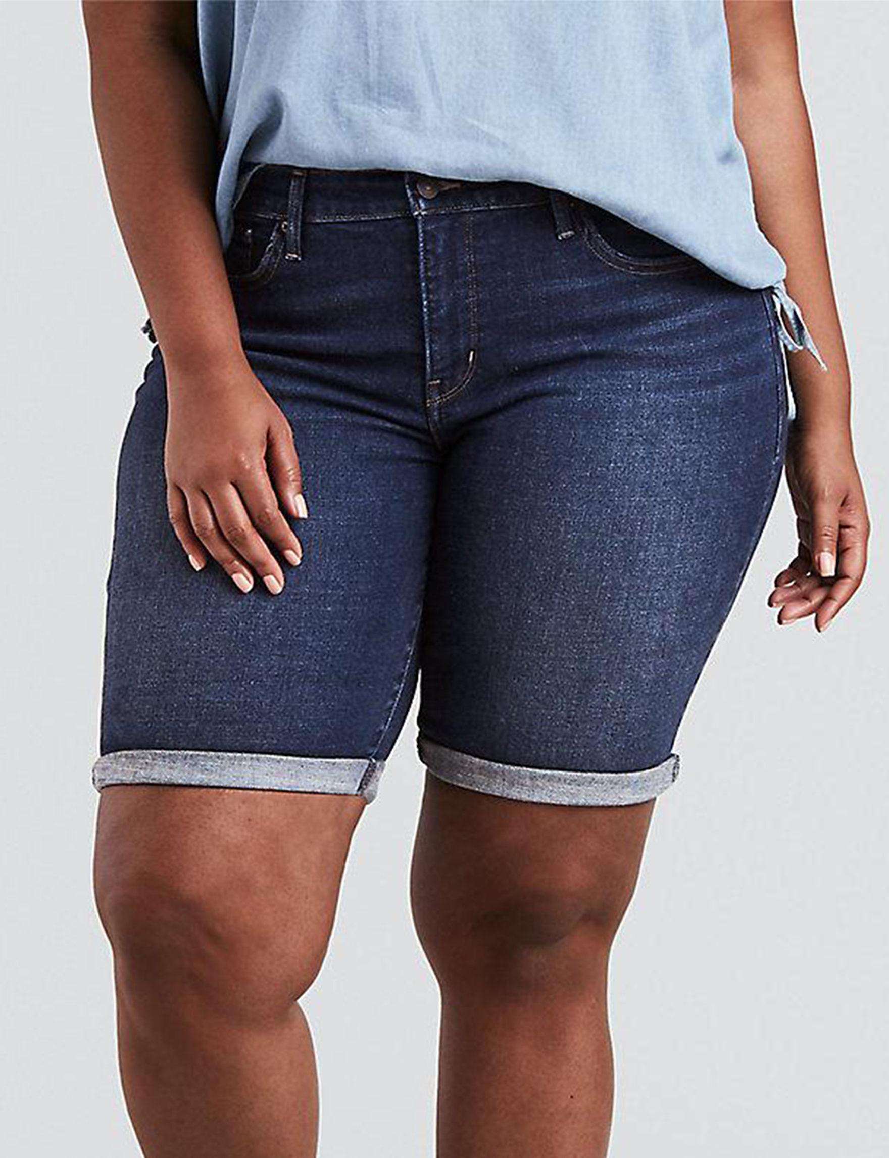 Levi's Dark Rinse Bermudas Denim Shorts